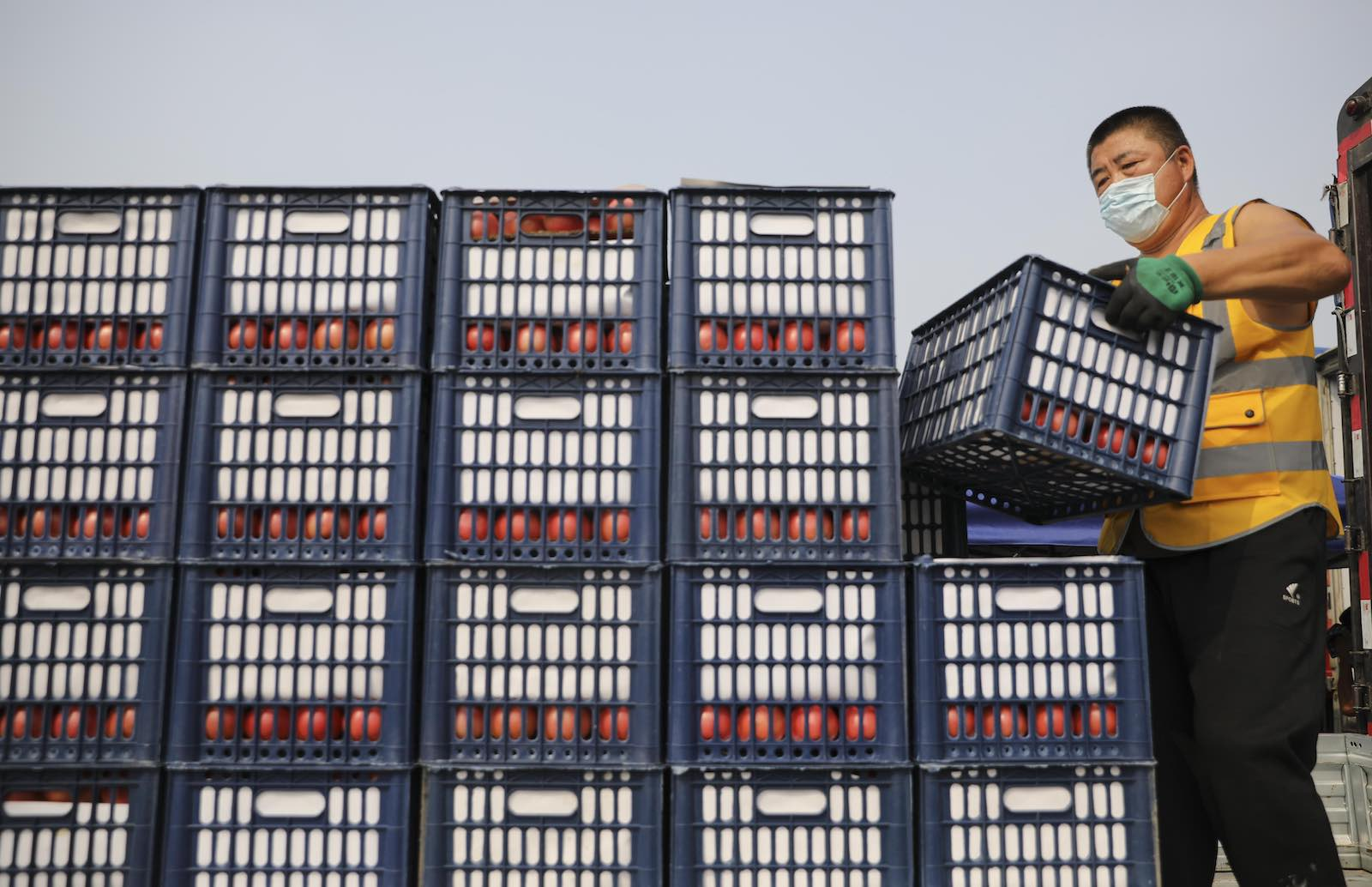Xinfadi wholesale market, Beijing, China (Zhao Jun/China News Service via Getty Images)