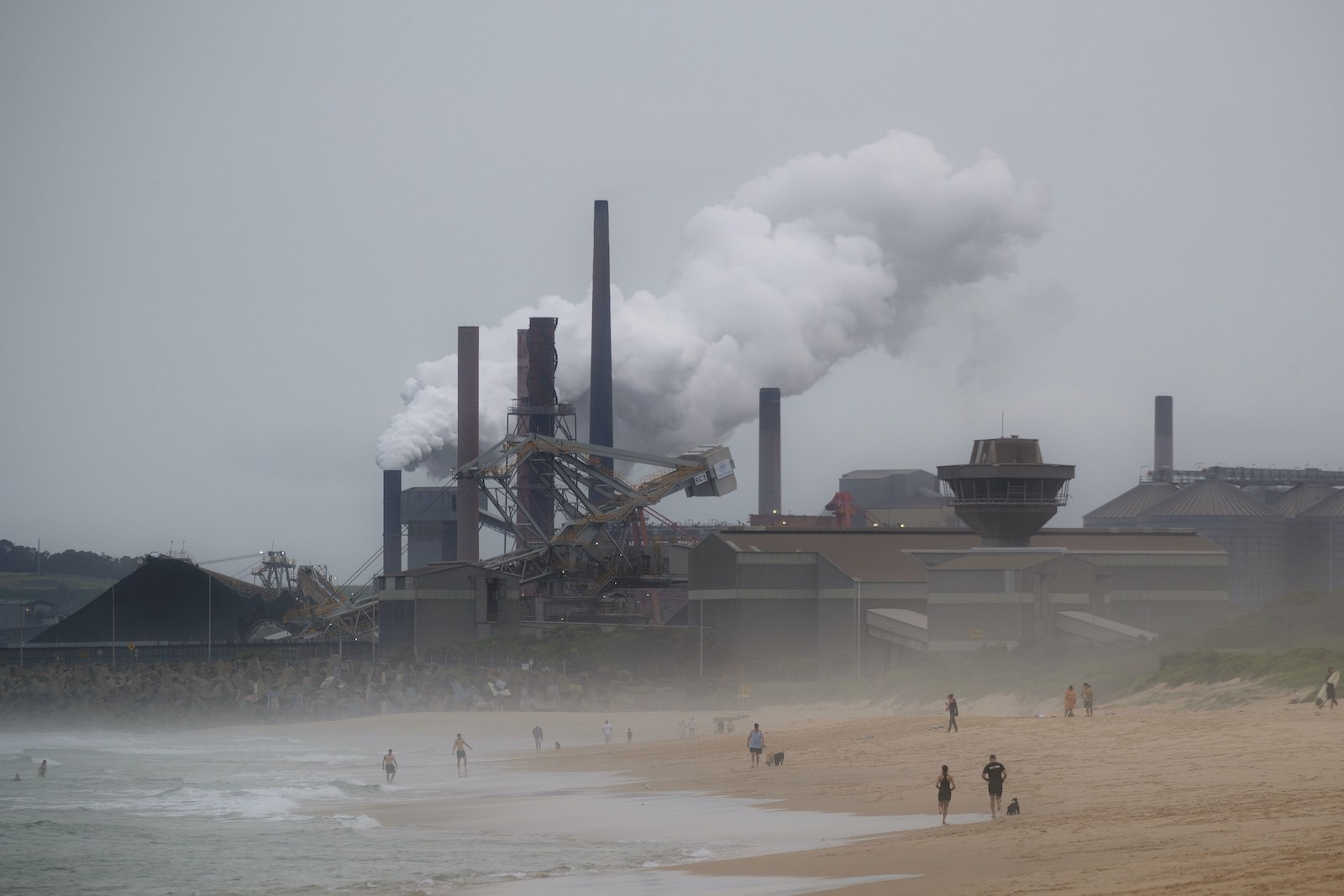 Steelworks and coal loading facility in Port Kembla, New South Wales, Australia, on 1 February 2021 (Brook Mitchell/Getty Images)