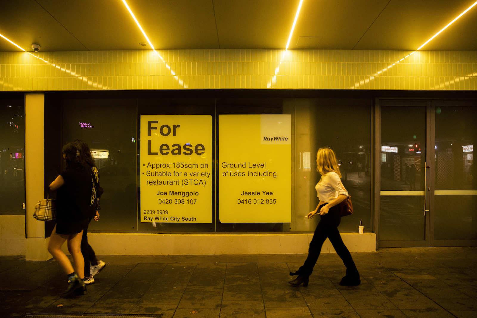 An empty shop seen in March in Kings Cross, Sydney, Australia (Jenny Evans/Getty Images)