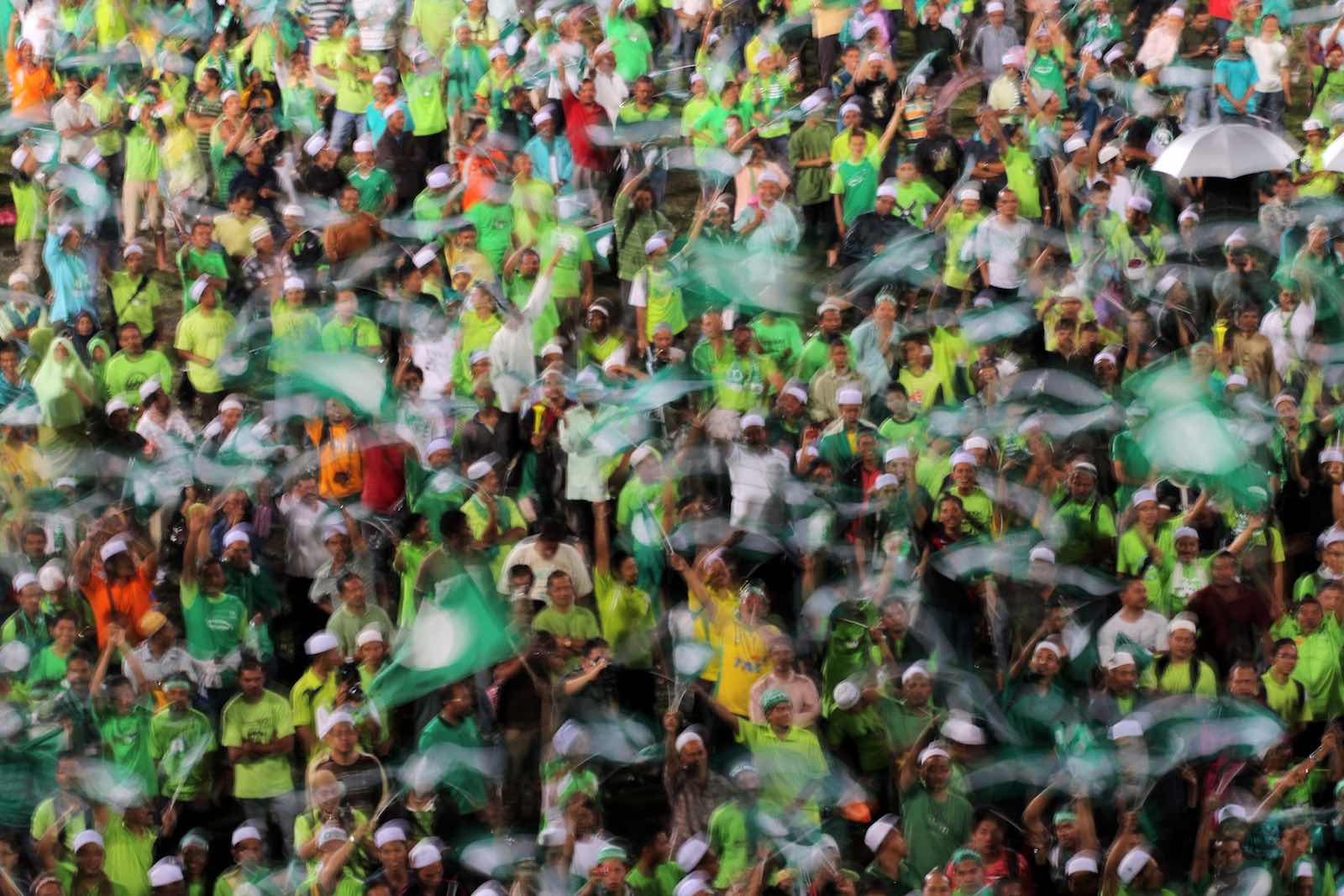 A rally for the Pan-Malaysian Islamic Party, or PAS (Mohd Rasfan/AFP/Getty Images)