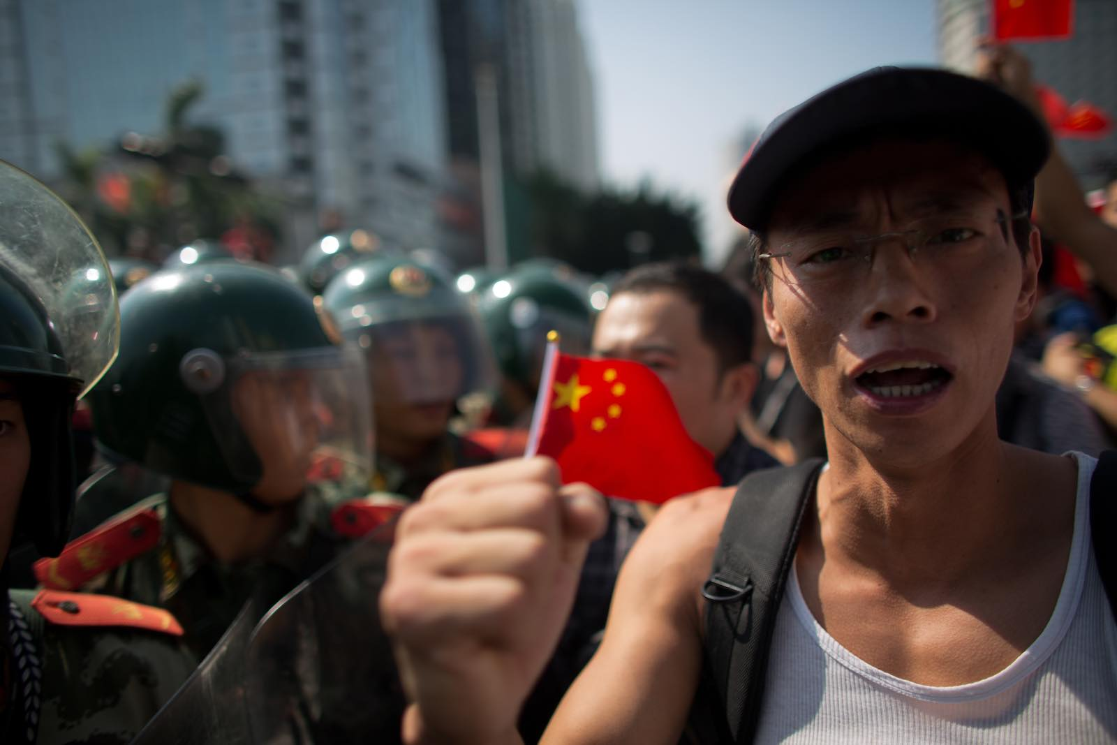 Playing with fire: Chinese anti-Japan protesters in 2012 (Photo by Lam Yik Fei/Getty Images)