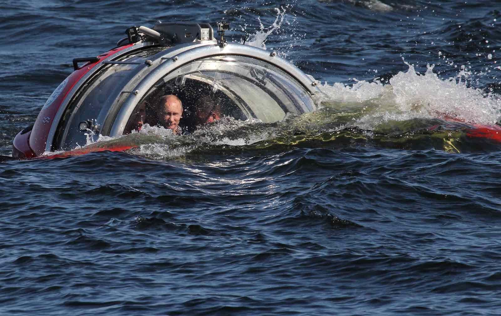 Russian President Vladimir Putin in a Baltic Sea submersible in 2013 near Gotland Island, Russia (Photo: Sasha Mordovets/Getty)