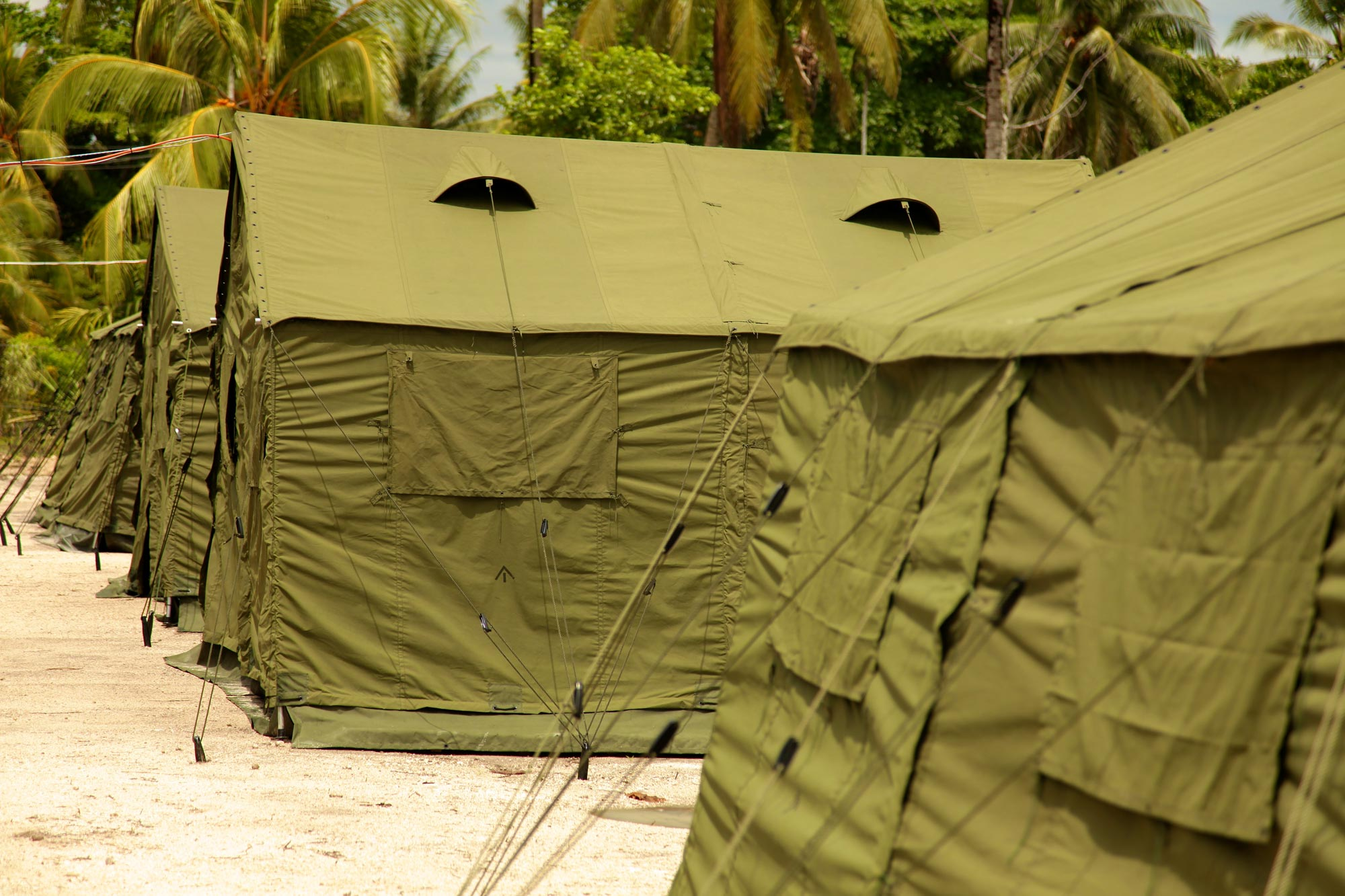 Manus Island Detention Centre. Photo by the Australian Department of Immigration and Citizenship via Getty Images