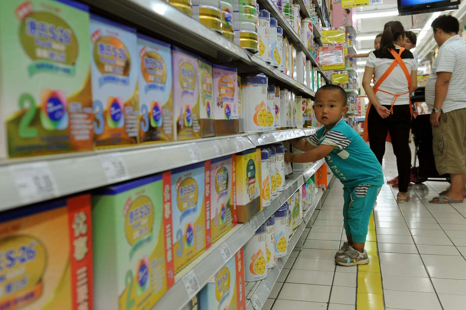 15 million babies born in China each year take some feeding (Photo: STR/AFP/Getty)