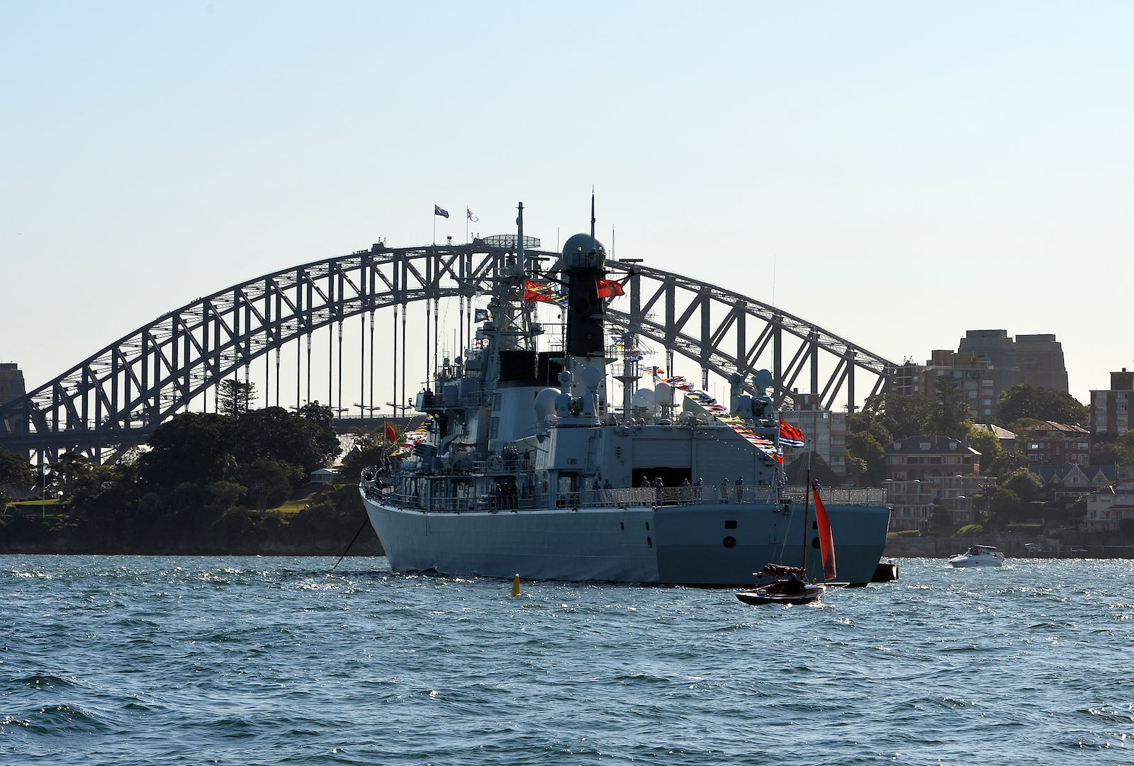 A Chinese warship in Sydney harbour, this one back in 2013 (Photo: Saeed Khan via Getty)