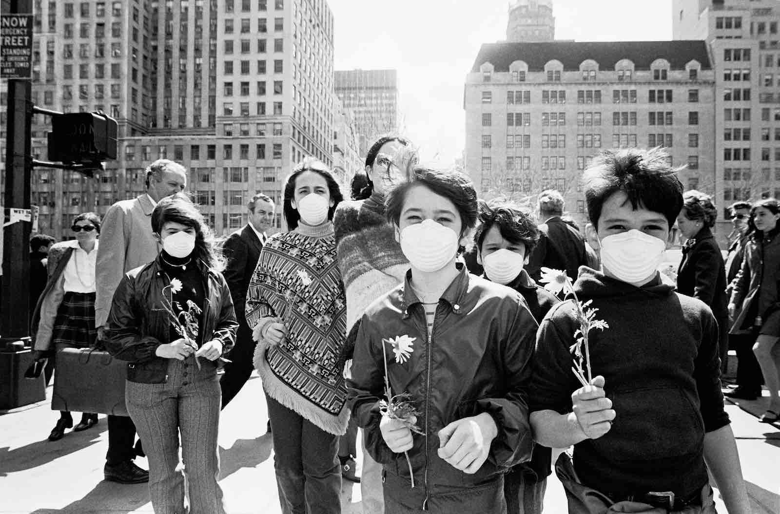 The first Earth Day, April 1970, in New York (Santi Visalli/Getty Images)