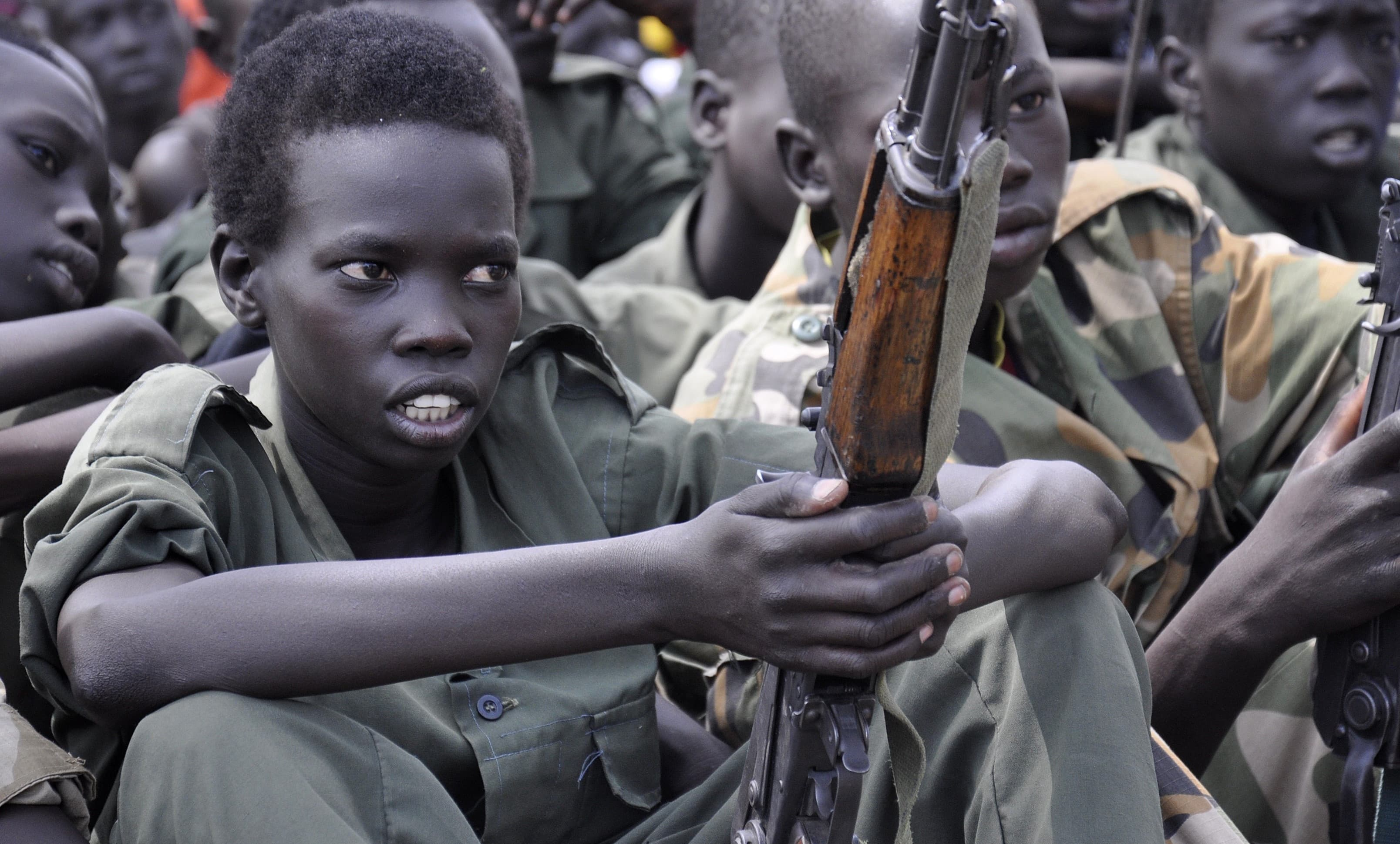 Child soldiers released in South Sudan, 2015 (Photo: Samir Bol/Getty)