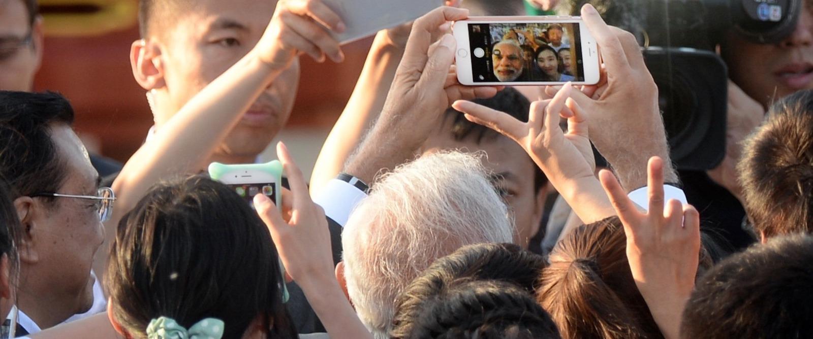 Modi's use of social media is revolutionary (Photo: Kenzaburo Fukuhara via Getty)