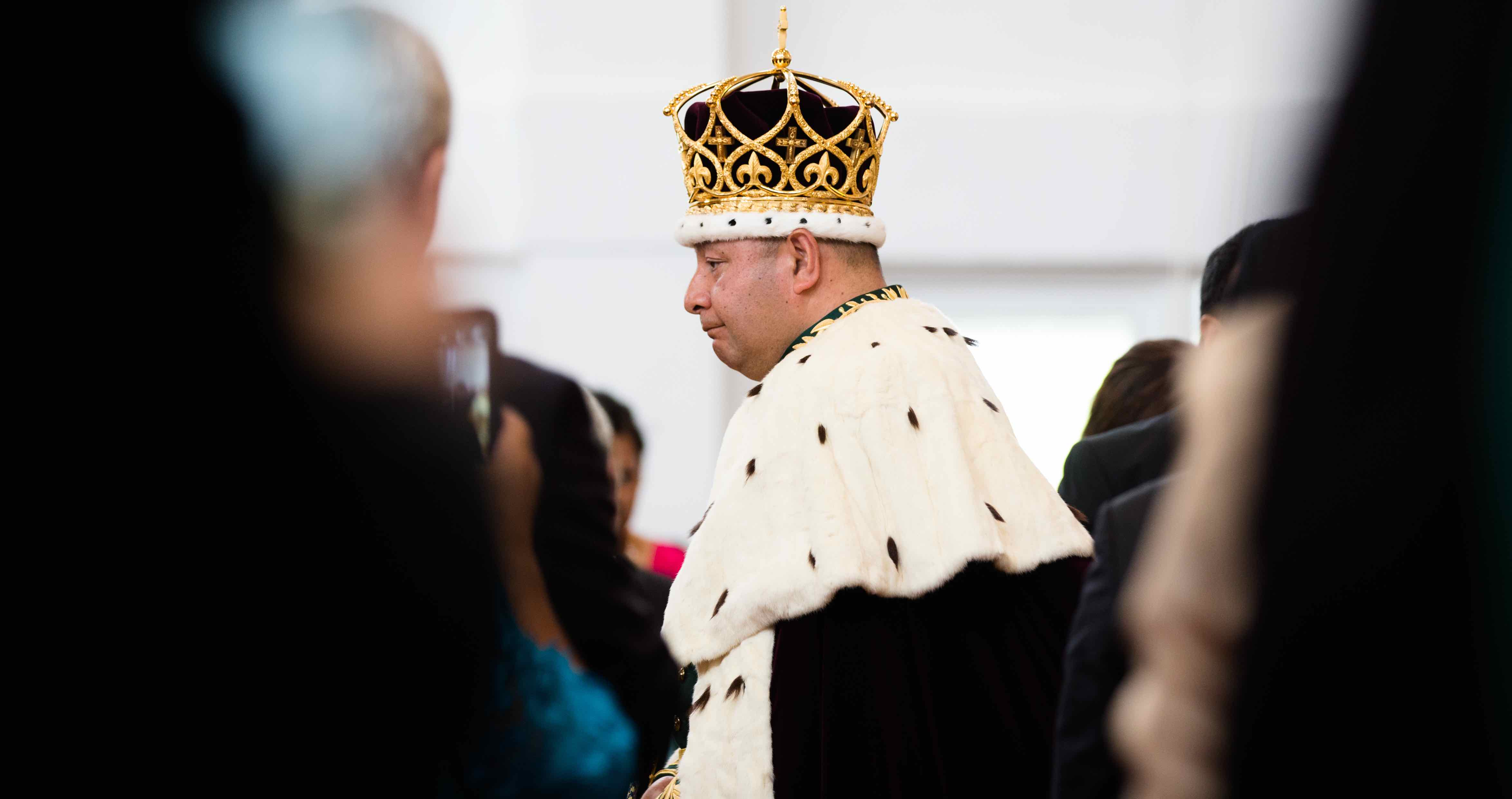 King Tupou VI of Tonga after the official coronation in 2015 (Photo: Edwina Pickles/Getty)