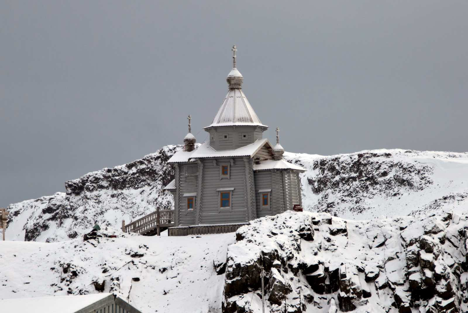 The Orthodox Church in the Russian Bellingshausen Station in Antarctica, photographed in 2014 (Vanderlei Almeida/AFP/Getty Images)