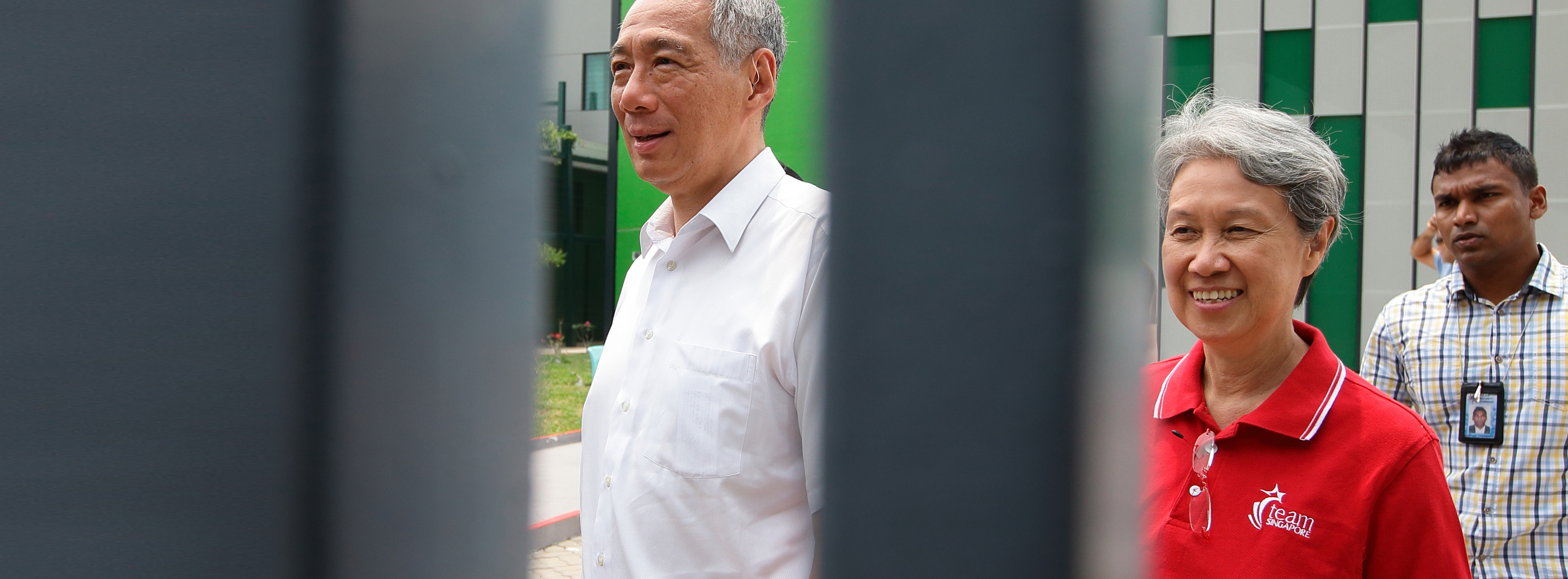 Singapore Prime Minister Lee Hsien Loong and wife, Ho Ching, in September 2015 (Suhaimi Abdullah/ Getty Images)
