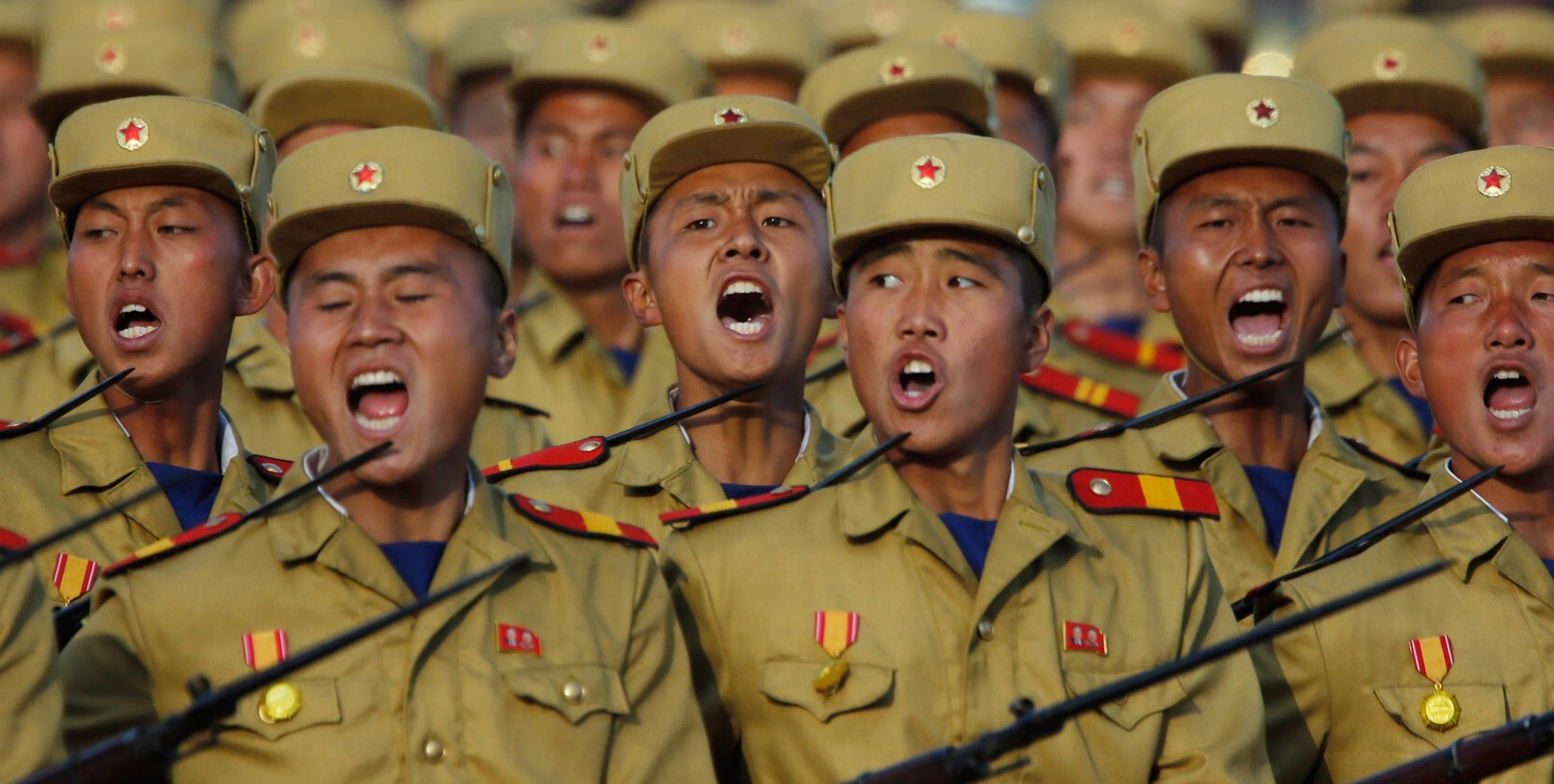 North Korean soldiers on parade in 2015 (Photo: Liu Xingzhe/Getty)