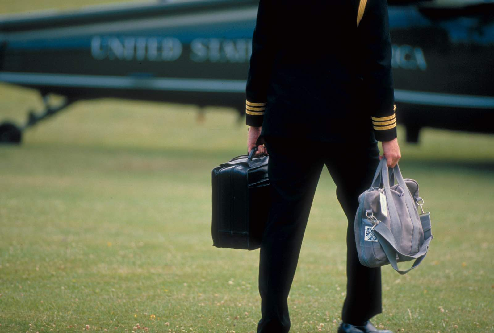 The Football, the briefcase containing nuclear missile launch codes that travels with the US President (Diana Walker/Life via Getty Images)