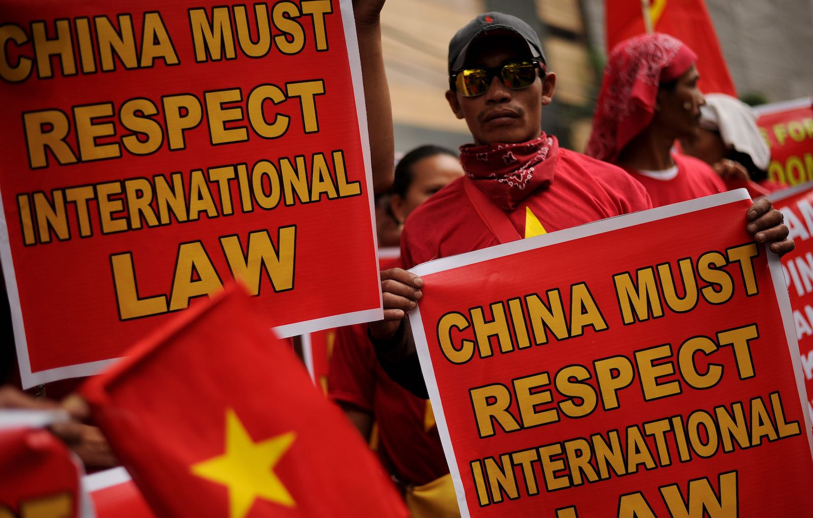 Earlier protests against China's bullying have been ignored (Photo: Noel Celis via Getty)