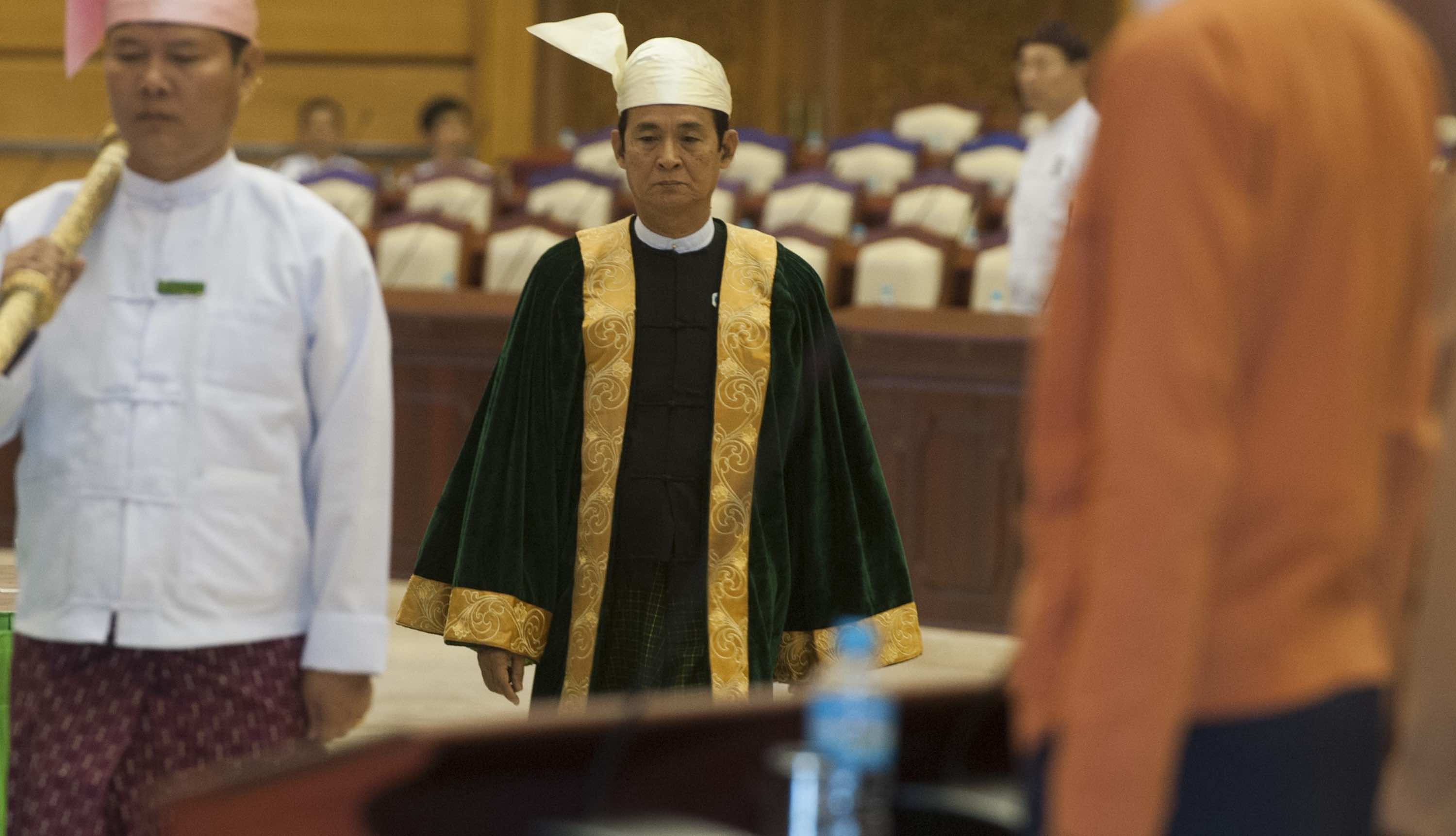 U Win Mint, widely tipped to be Myanmar's next president (Photo: Aung Naing Soe/Getty)