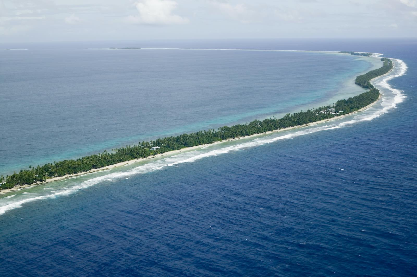 Funafuti Island in Tuvalu, which hosted the Pacific Islands Forum meeting in 2019 (Ashley Cooper/Getty Images)