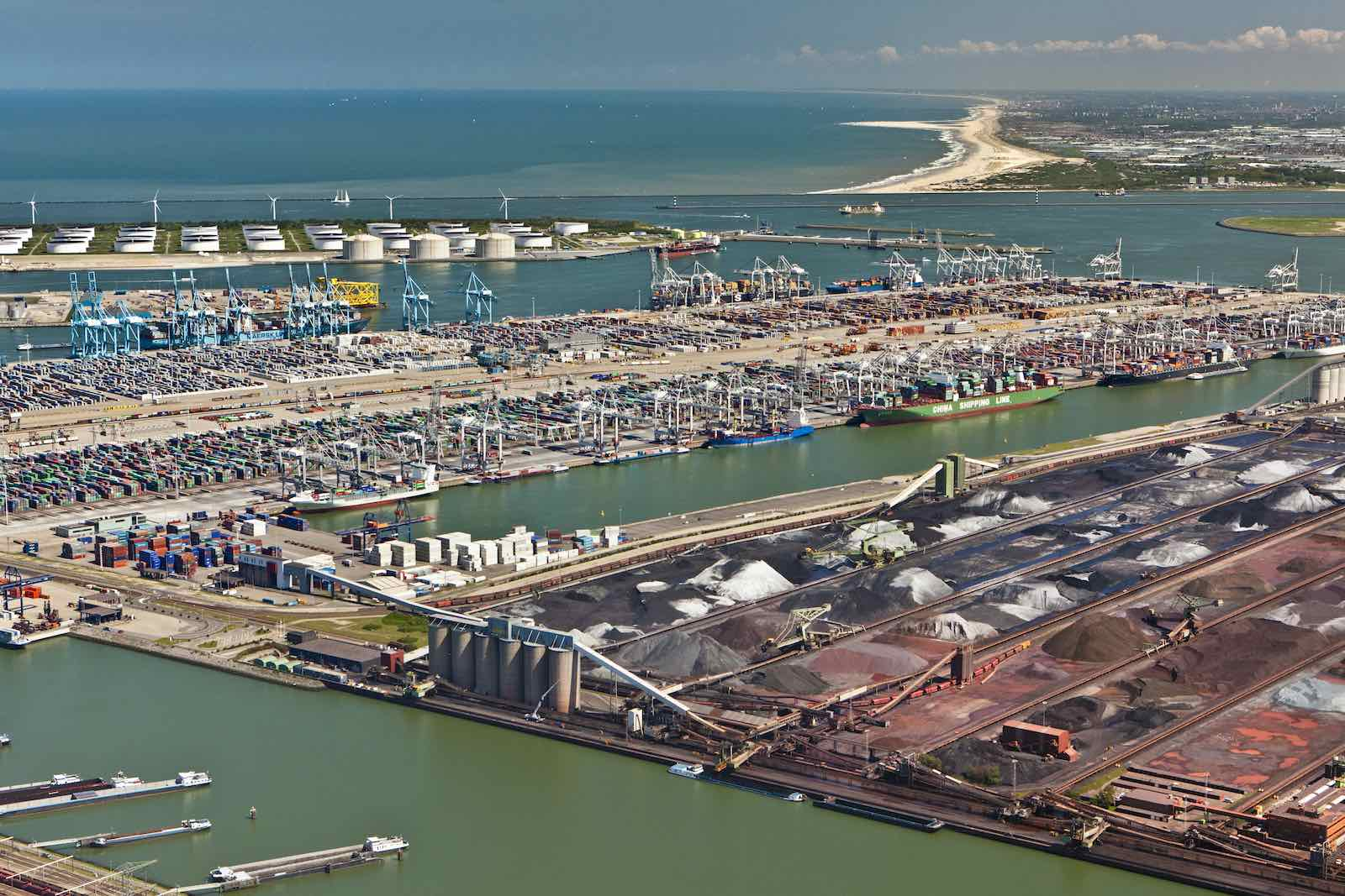 Container, ore and oil storage at Rotterdam Port in the Netherlands (Frans Lemmens/Getty Images)