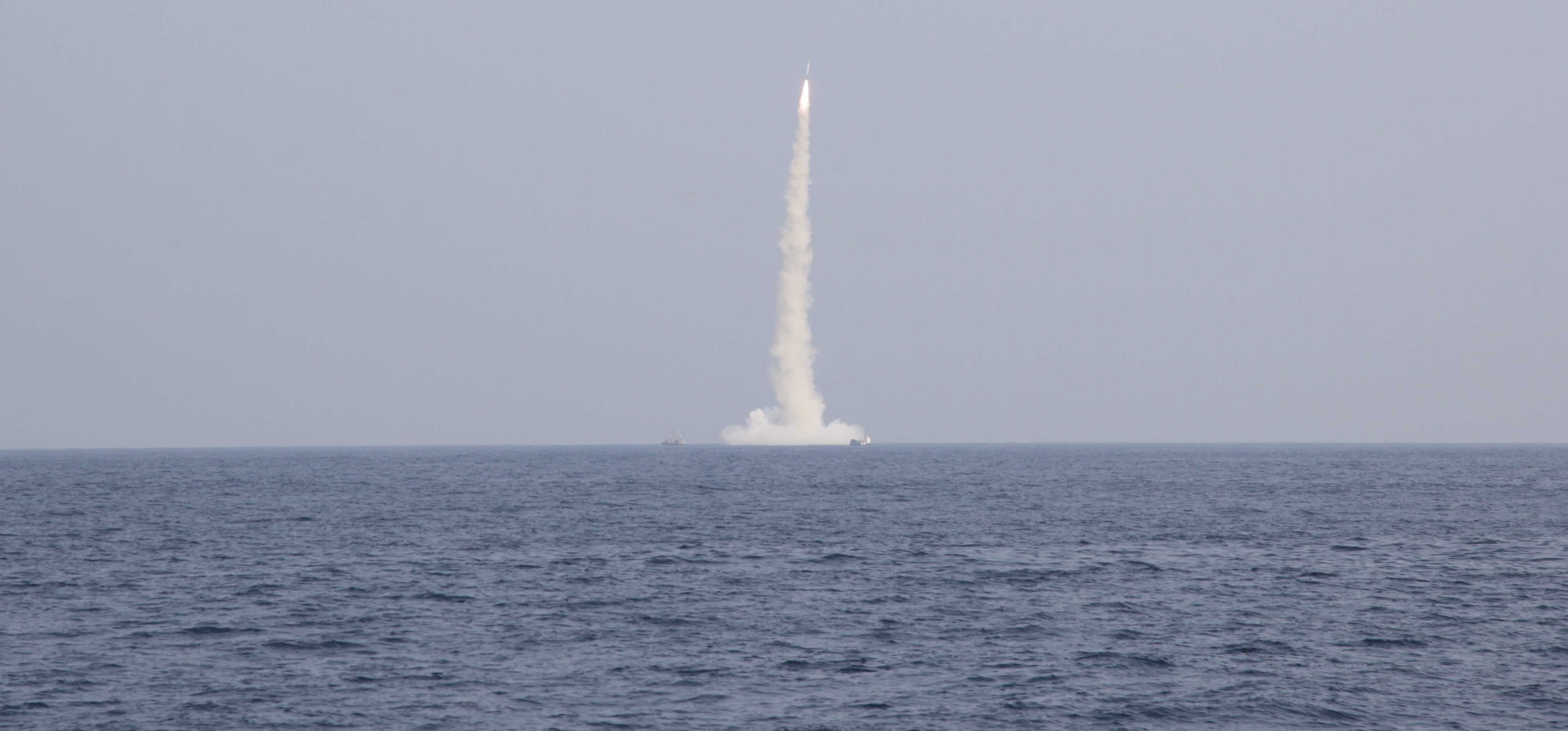 India tests a medium-range submarine-launched ballistic missile (Photo: Pallava Bagla/Getty)