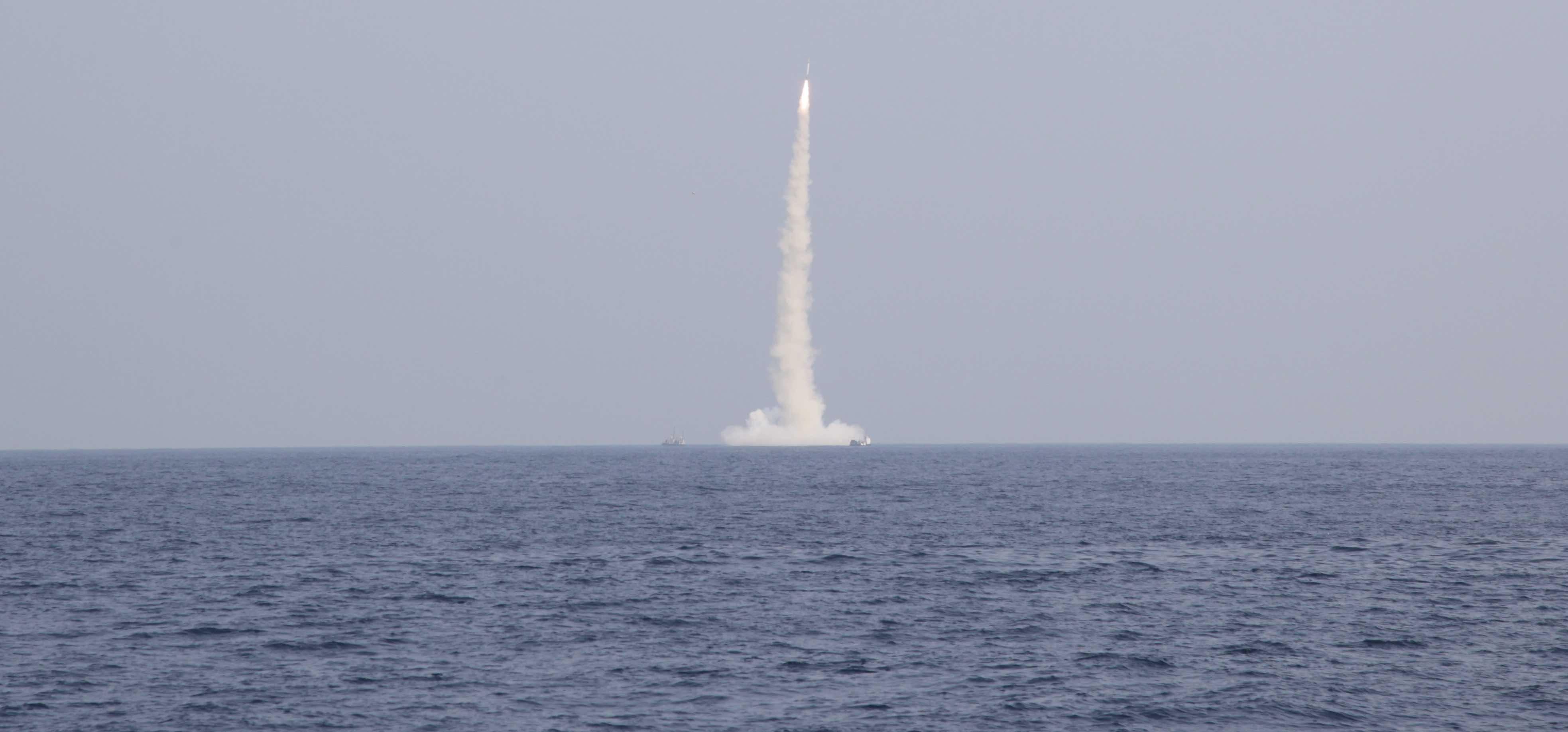 India tests a medium-range submarine-launched ballistic missile (Photo: Pallava Bagla/Getty)