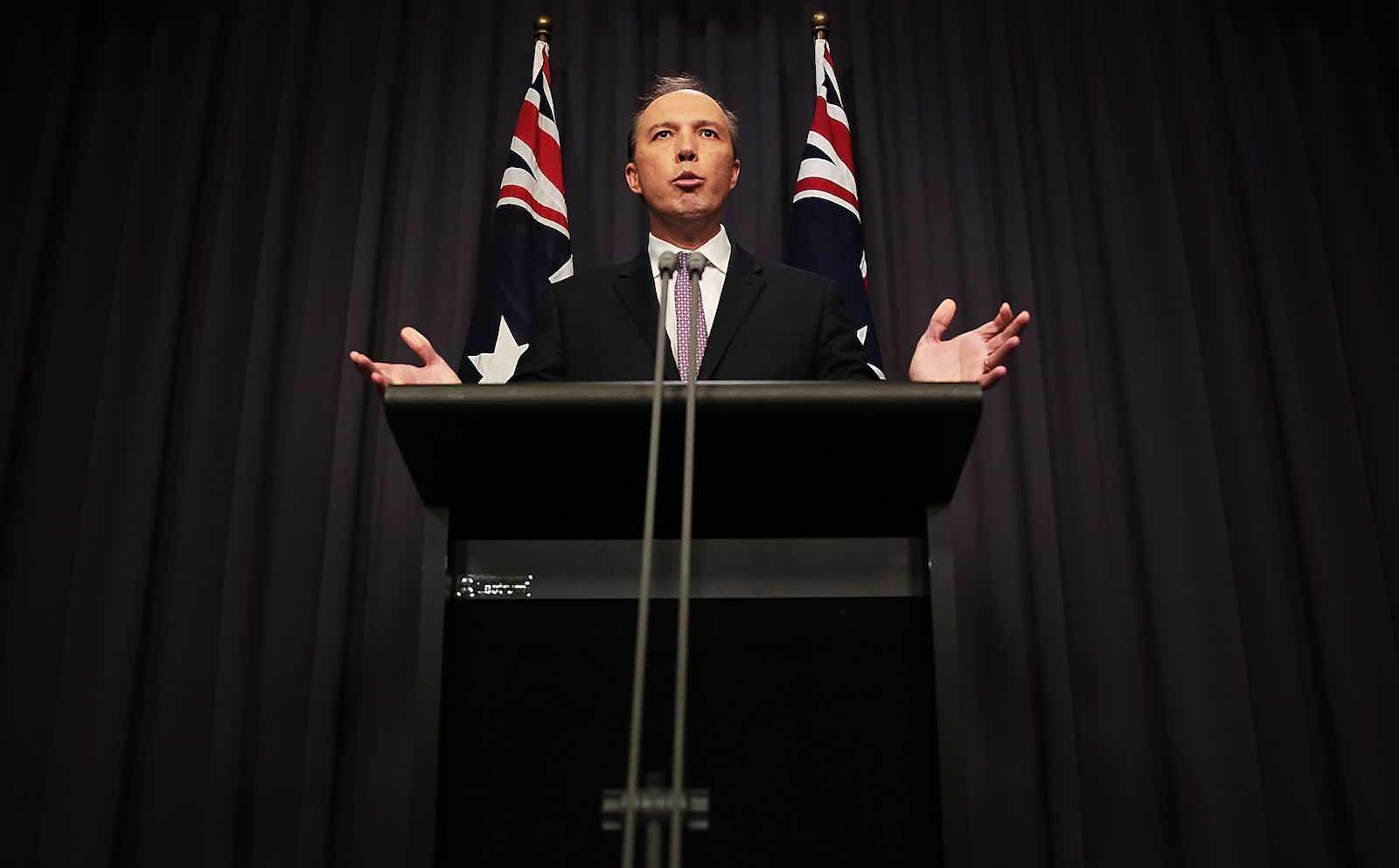 Peter Dutton has challenged Malcolm Turnbull for the job of Australian prime minister (Photo: Stefan Postles/Getty)