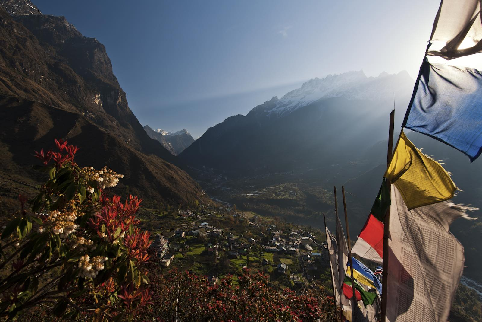 Lachung, in India's Sikkim state, near the border of Tibet (Getty Images)