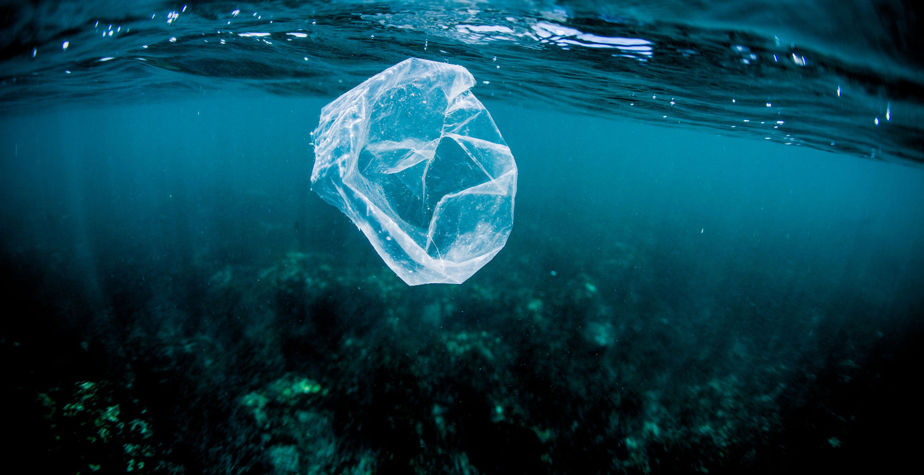 Discarded plastic bag floating in the ocean. (Photo: Getty Images)