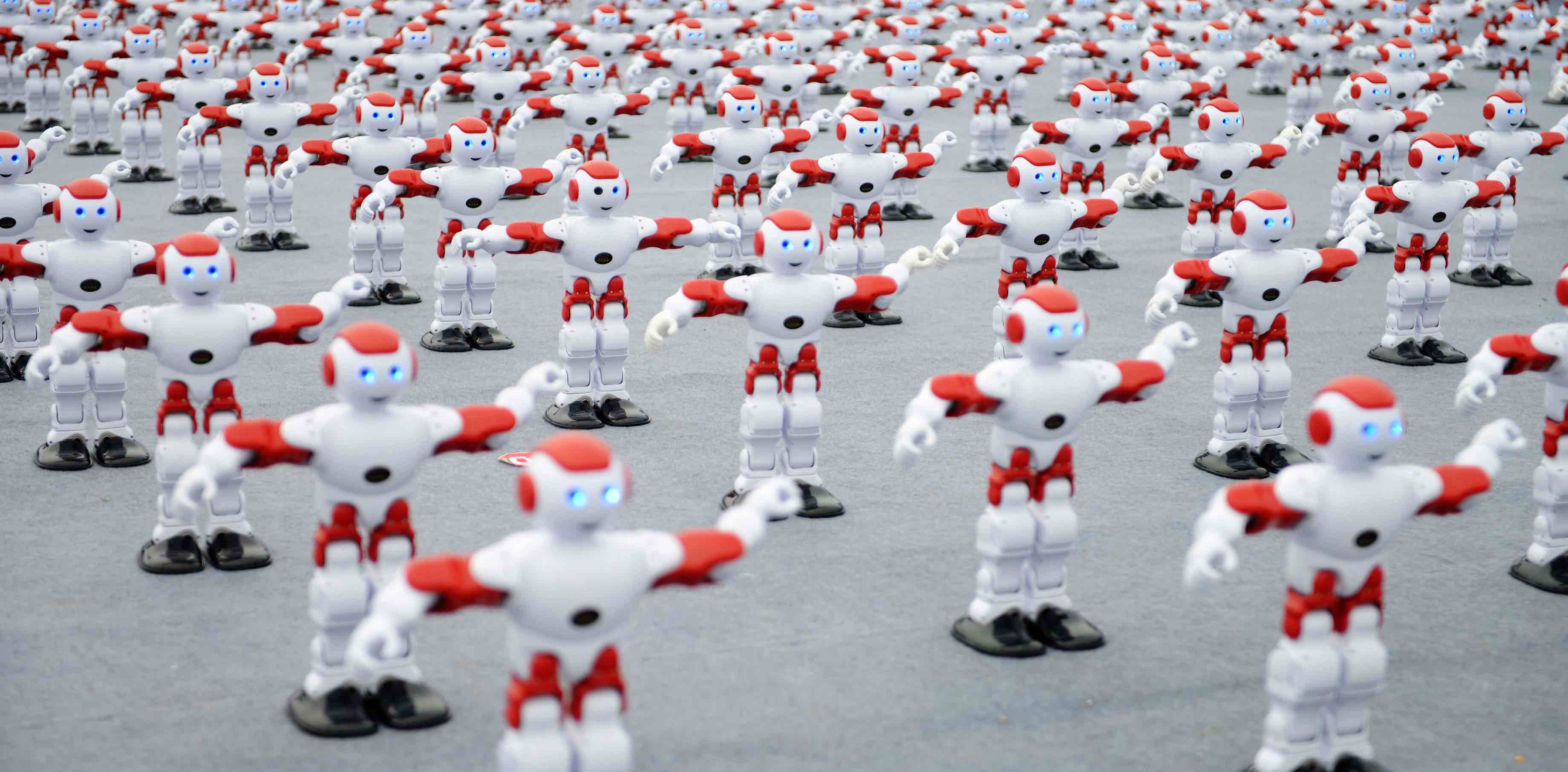1050 dancing robots at the Qingdao International Beer Festival 2016 (Photo: VCG via Getty)