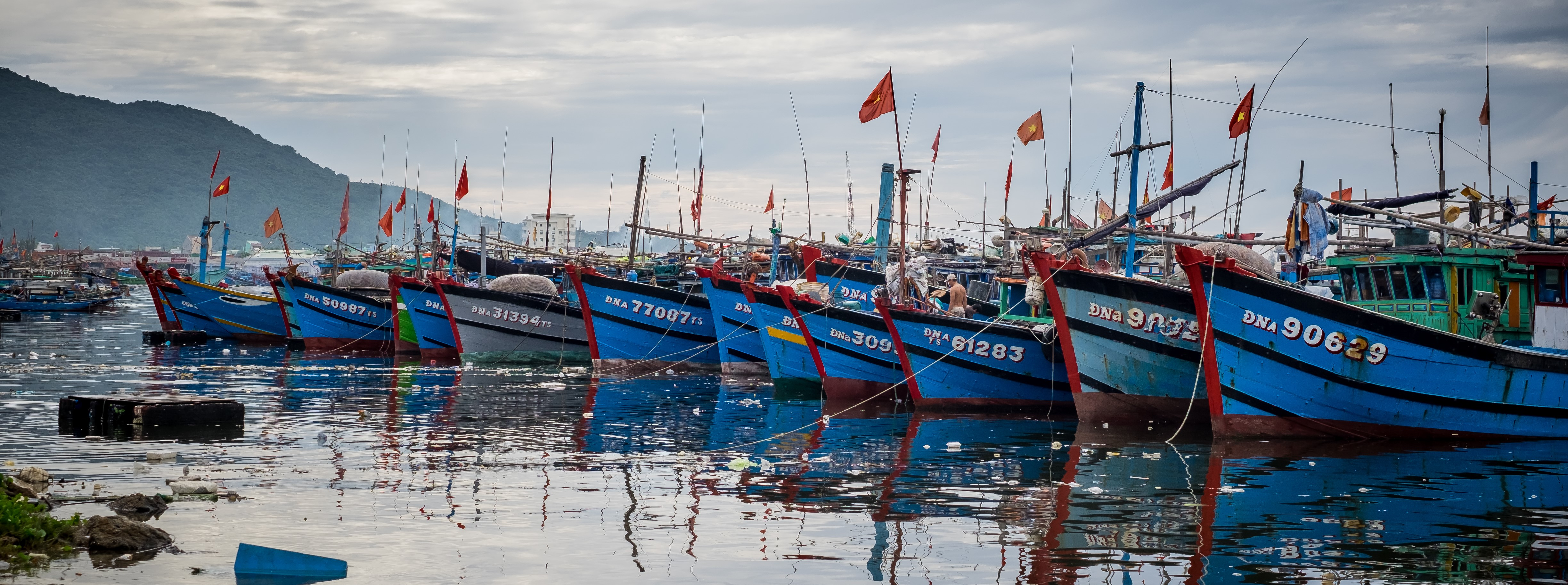 Vietnamese fishing boats pictured in Thuan Phuoc port last year (Photo:  Linh Pham/Getty Images)