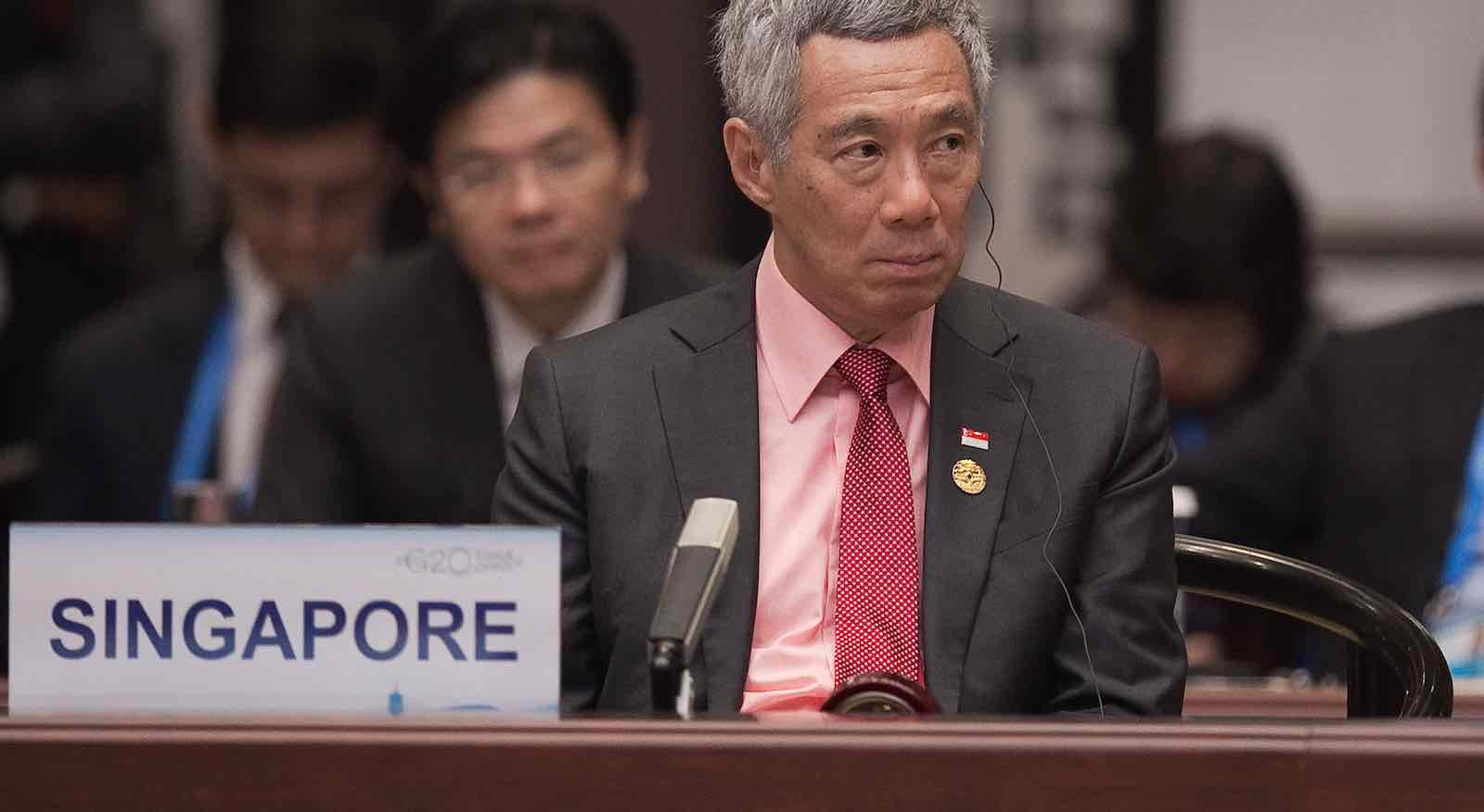 Singapore's Prime Minister Lee Hsien Loong (Photo: Nicolas Asfouri/Getty)