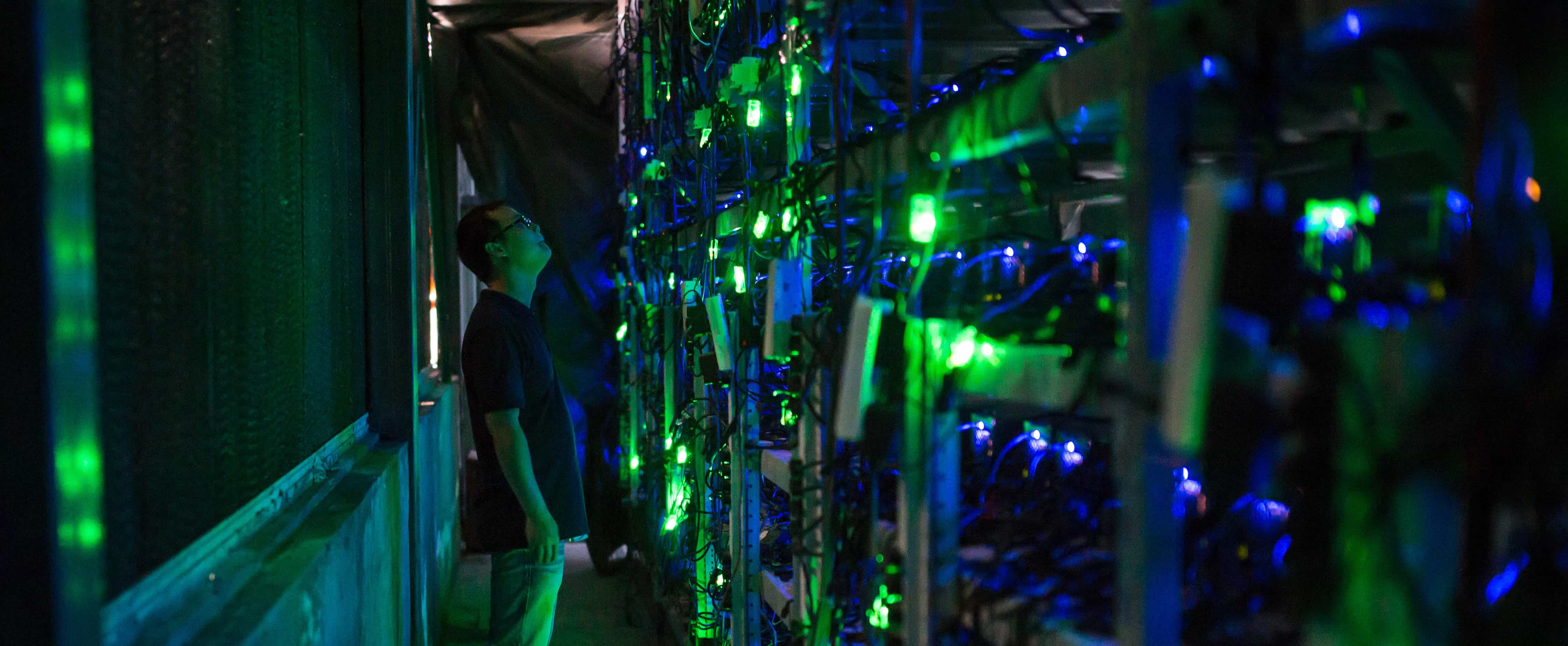 A Bitcoin farm in Sichuan, China, August 2017 (Photo: Paul Ratje/Getty)