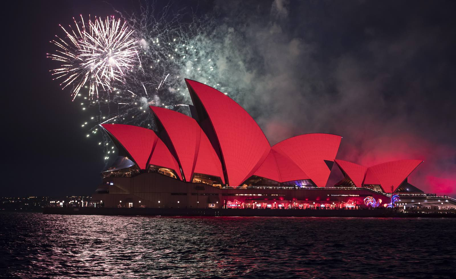 Lunar New Year celebrations on Sydney Harbour, January 2017 (James D. Morgan/Getty Images)