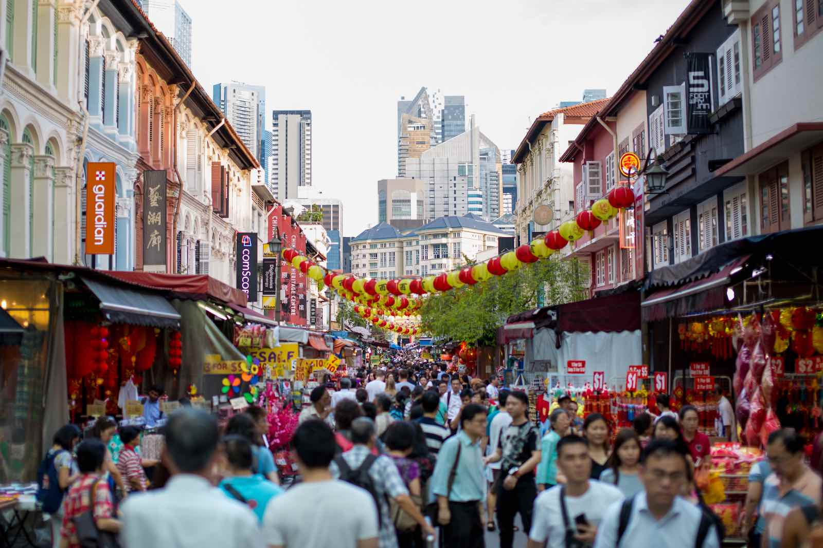 Downtown Singapore: More than half the city-state's 5.8 million people are active Facebook users (Photo: Getty Images)