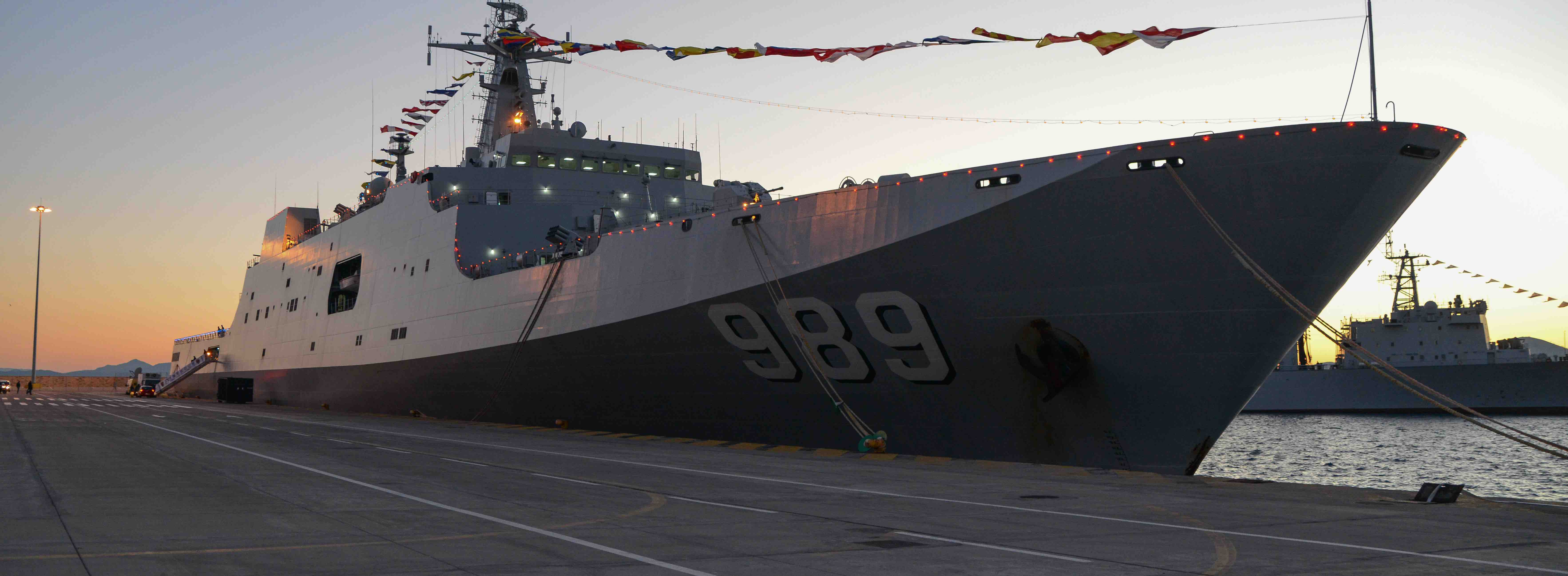 A Chinese Type 071 amphibious transport dock (Photo: Wassilis Aswestopoulos/Getty)