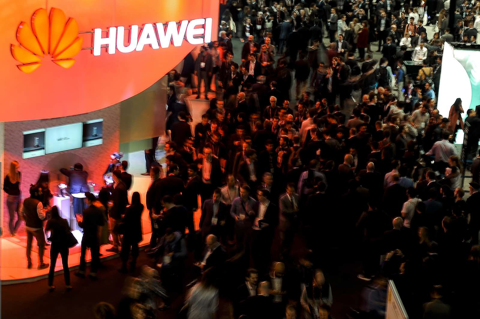 A Huawei stand at the Mobile World Congress in Barcelona, Spain, 2017 (Photo: Joan Cros Garcia via Getty)