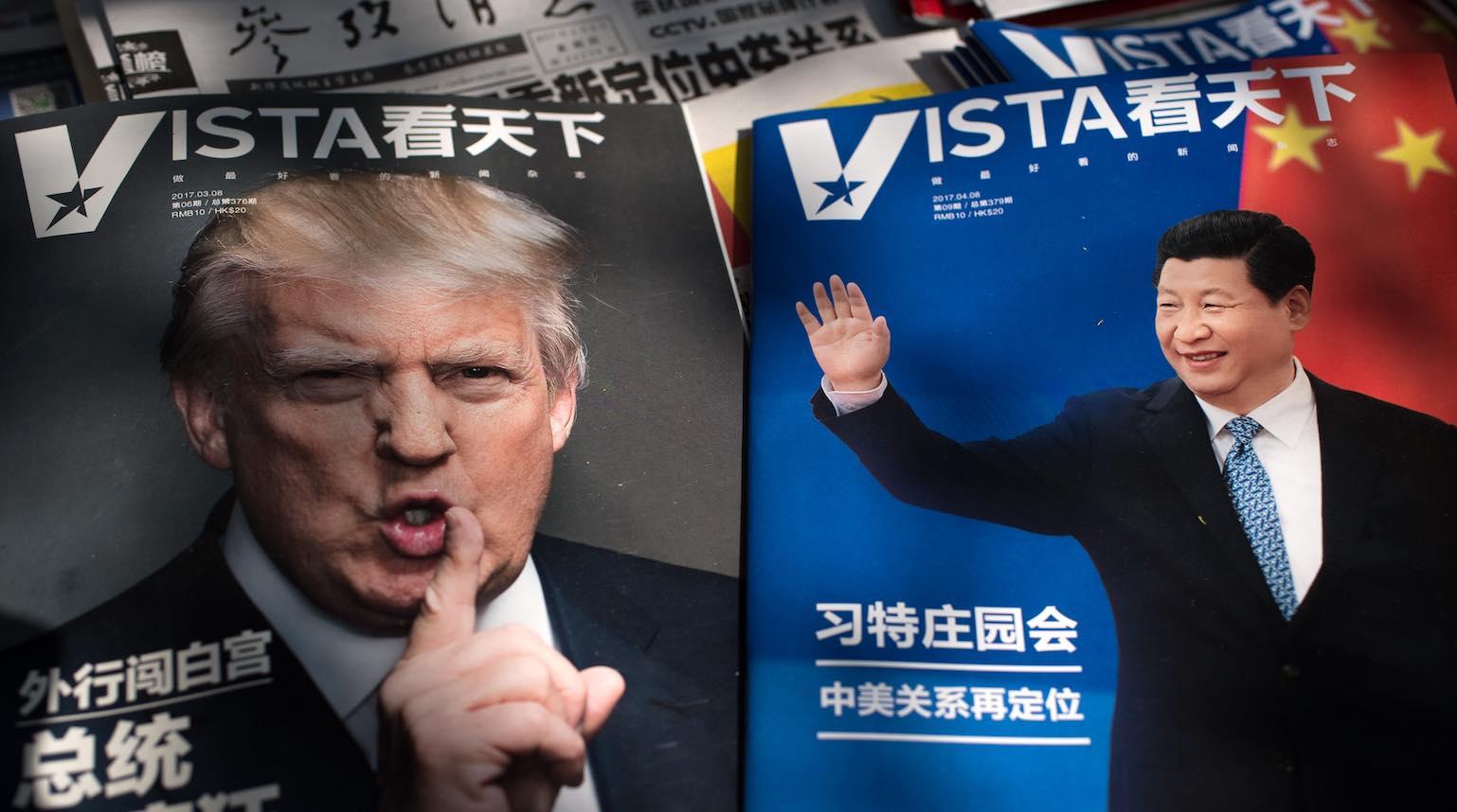 A Beijing newsstand, 2017 (Nicolas Asfouri/AFP via Getty Images)