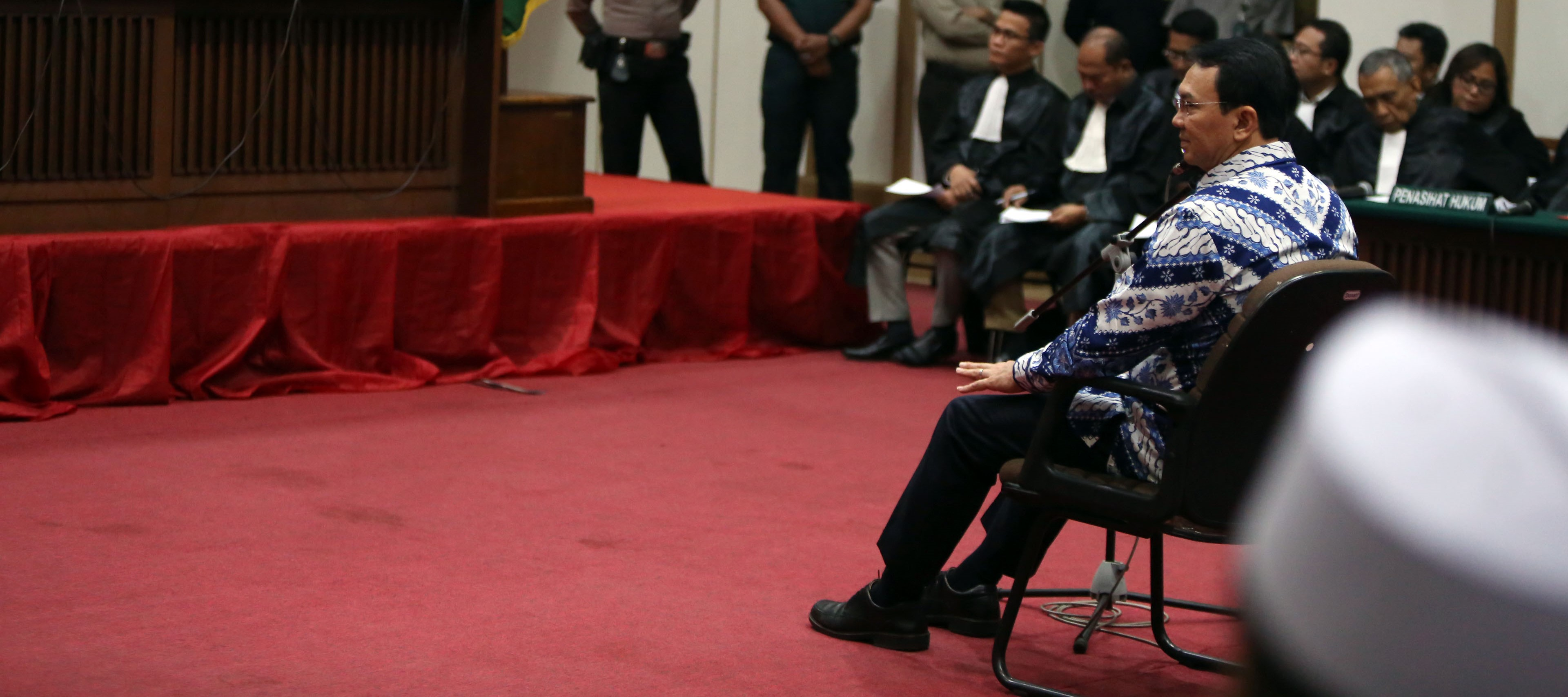Ahok in court for his verdict and sentencing, May 2017 (Photo: Getty Images/Barcroft Media/Jefta Images)
