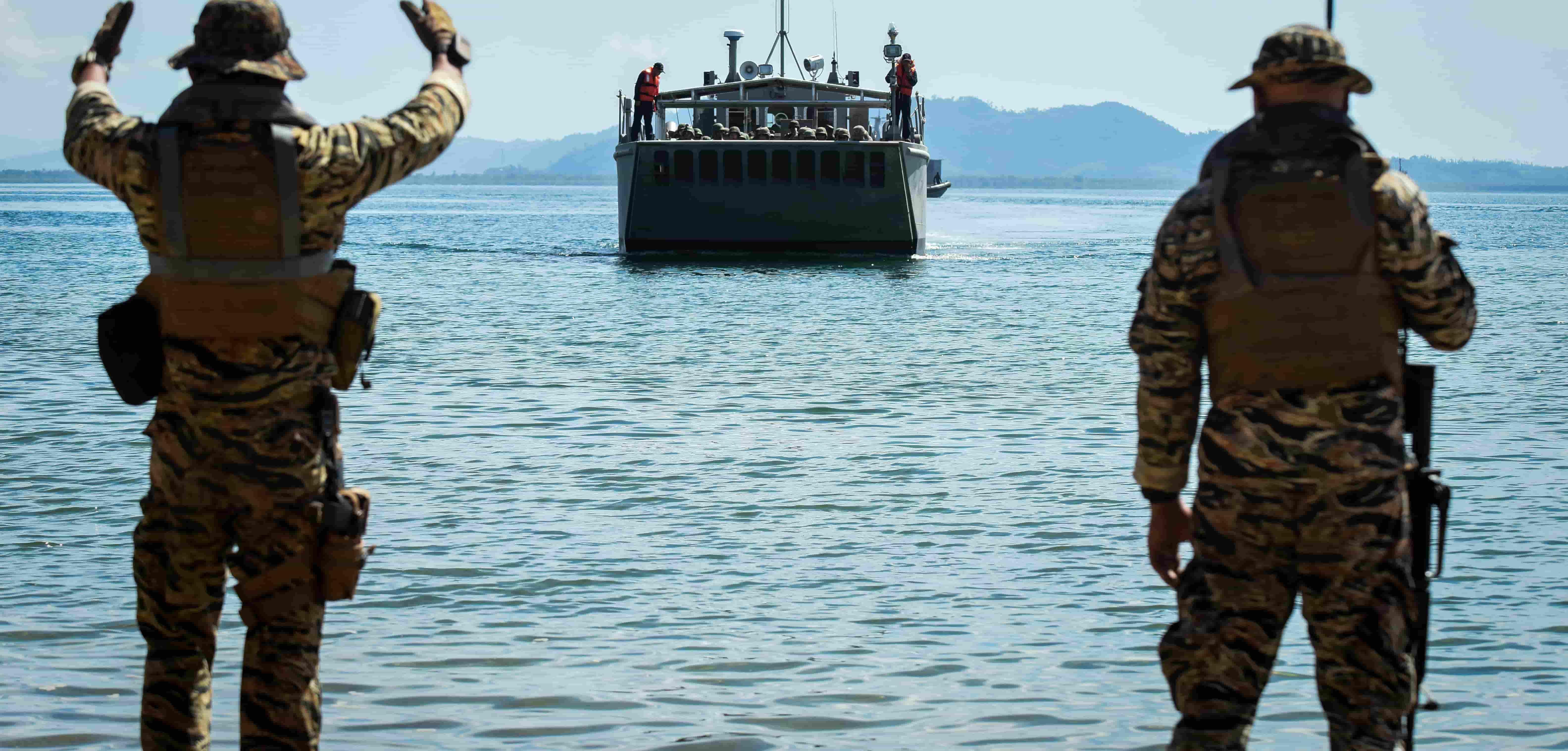 US and Philippine troops during the Balikatan war games in May 2017 (Photo: Dondi Tawatao/Getty)