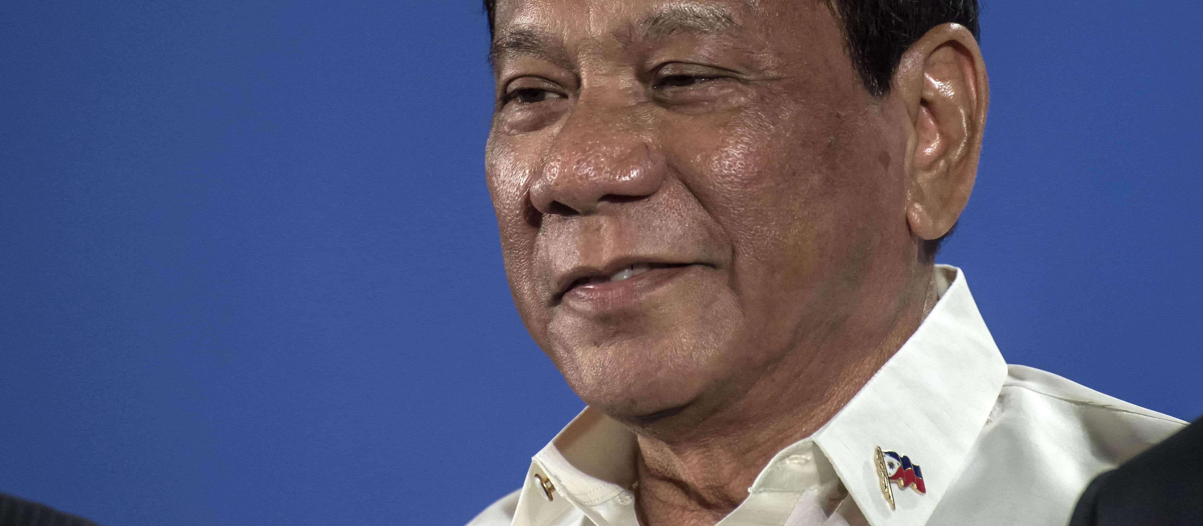 Rodrigo Duterte, president of the Philippines, in May. (Photo: Thierry Falise/Getty)