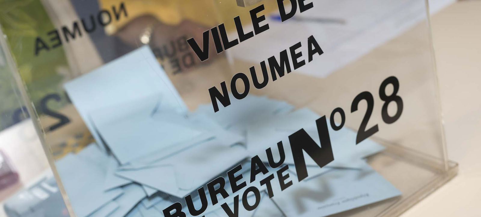 A ballot box in Noumea, New Caledonia, during voting in the 2017 French legislative elections (Photo: Fred Payet via Getty)