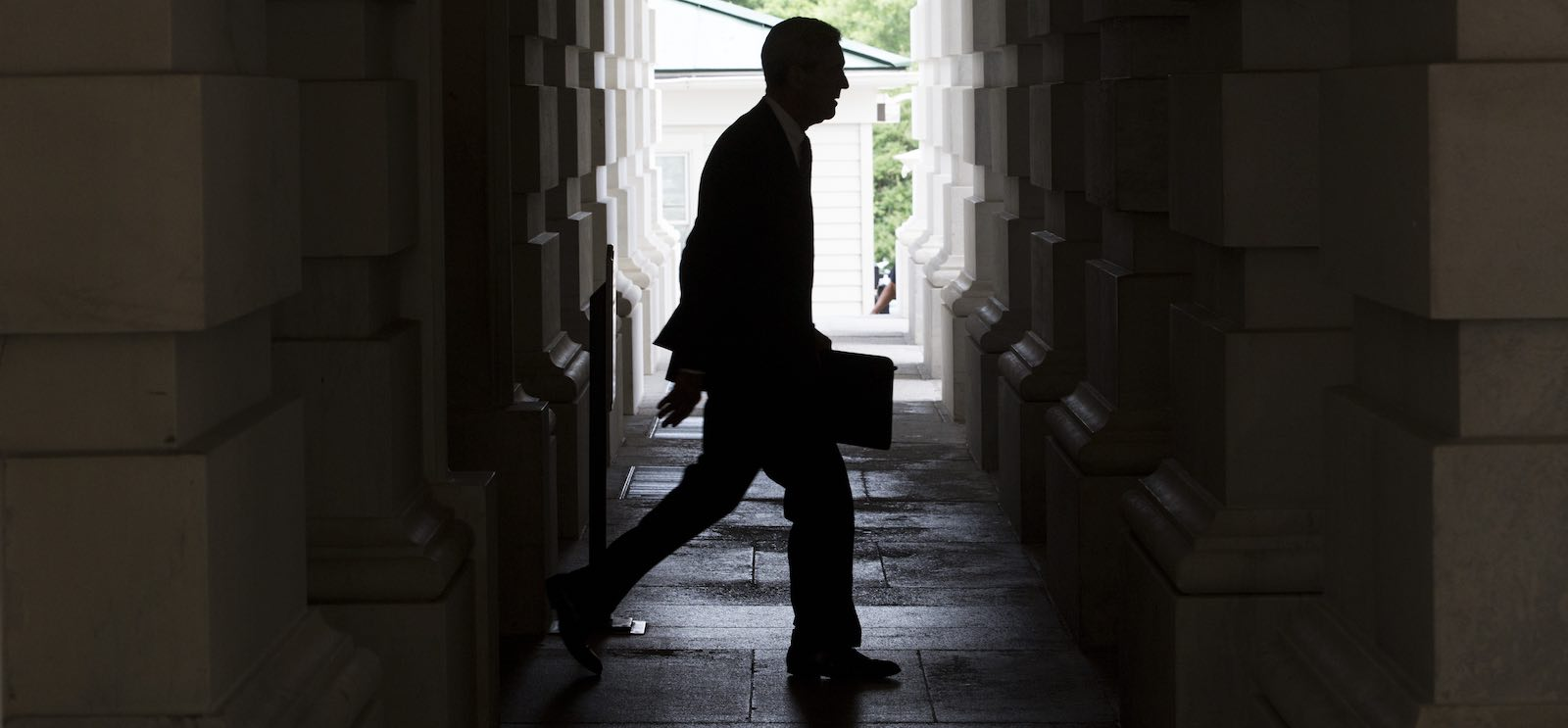 Special Counsel Robert Mueller leaves the US Capitol Building following a meeting with the Senate Judiciary Committee in June 2017 (Photo: Zach Gibson via Getty)