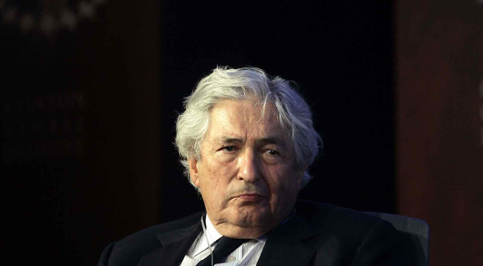 Former World Bank president James Wolfensohn in 2006 at the Clinton Global Initiative annual meeting in New York (Chris Hondros/Getty Images)