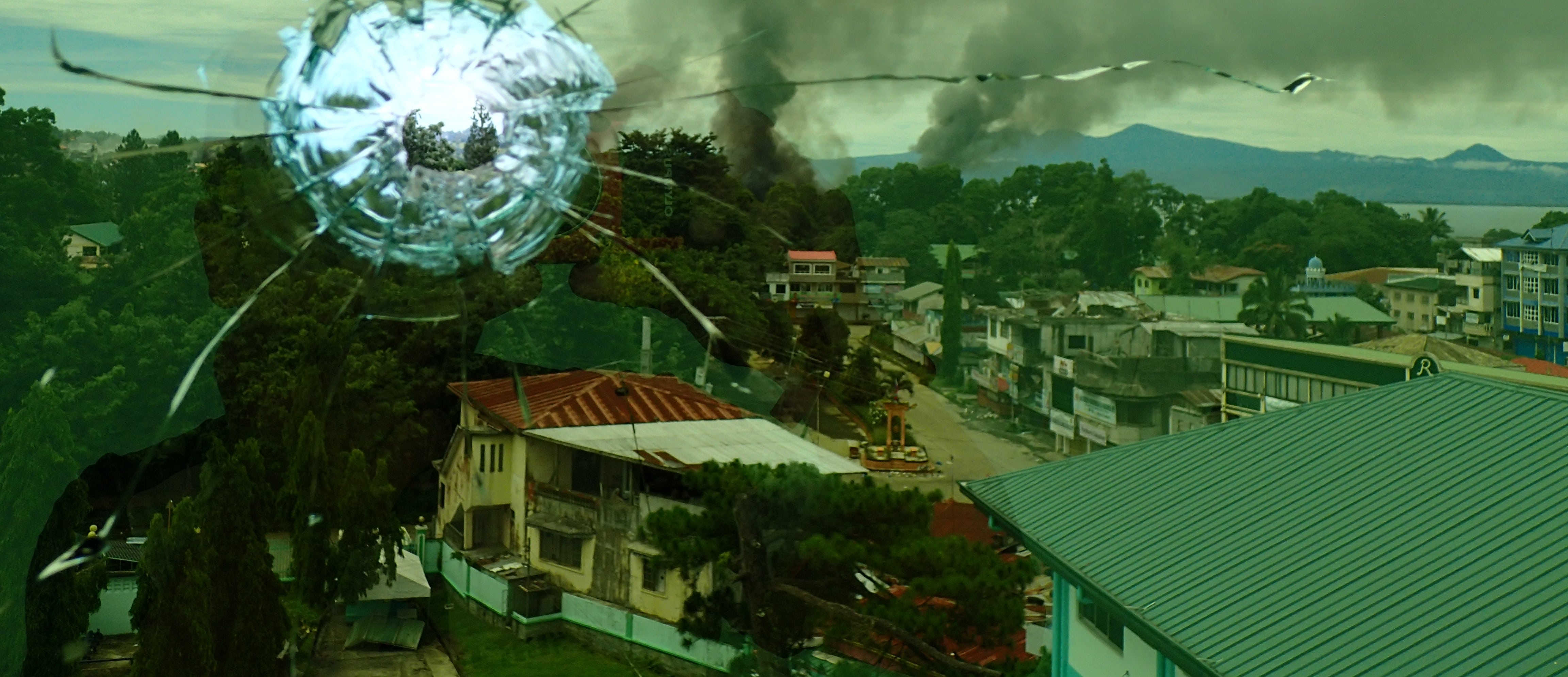 The view from Amai Pakpak Medical Center in Marawi, June 2017 (Photo: Getty Images/Pacific Press)