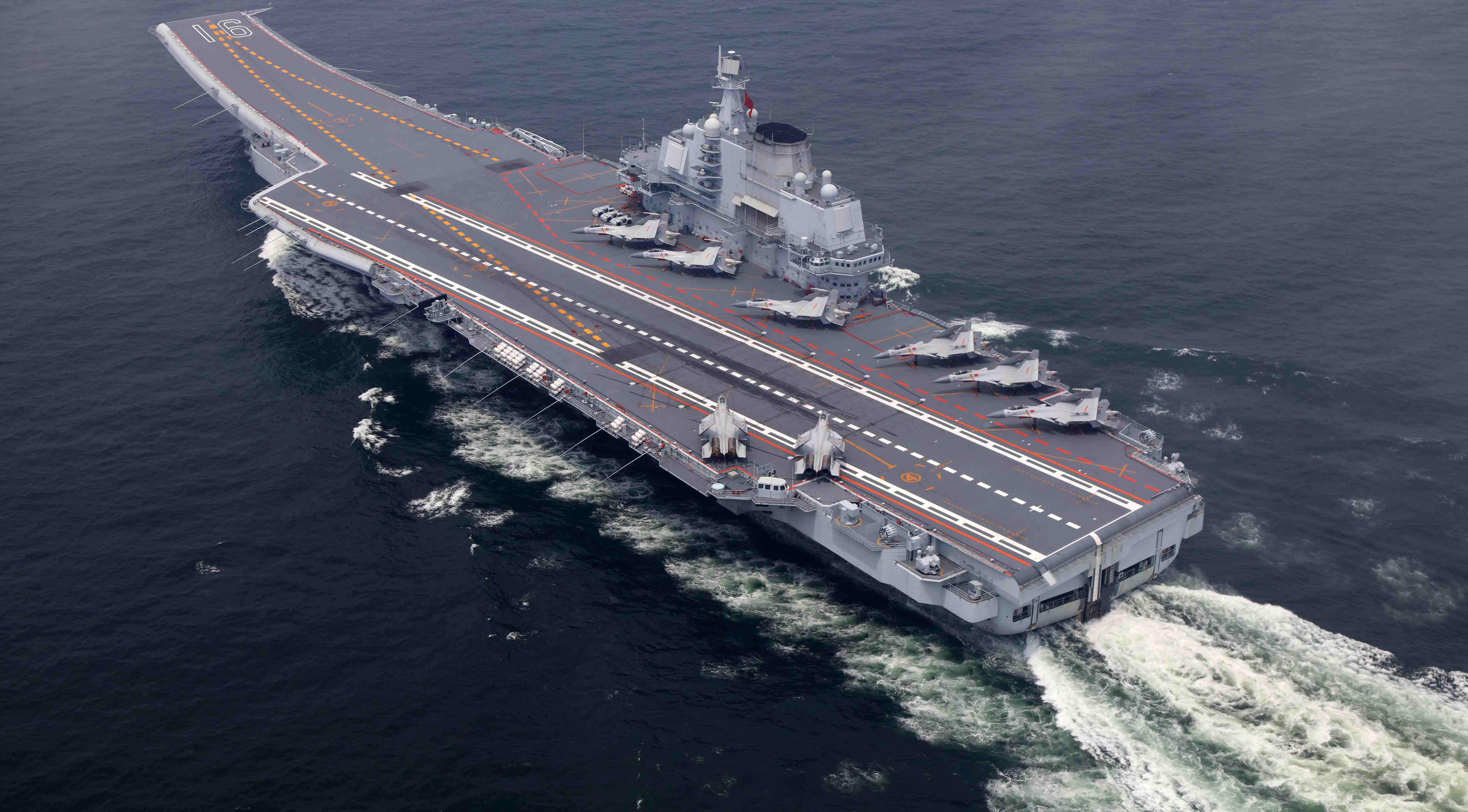 Chinese Aircraft Carrier Liaoning during a training mission in July 2017 (Photo: VCG via Getty)