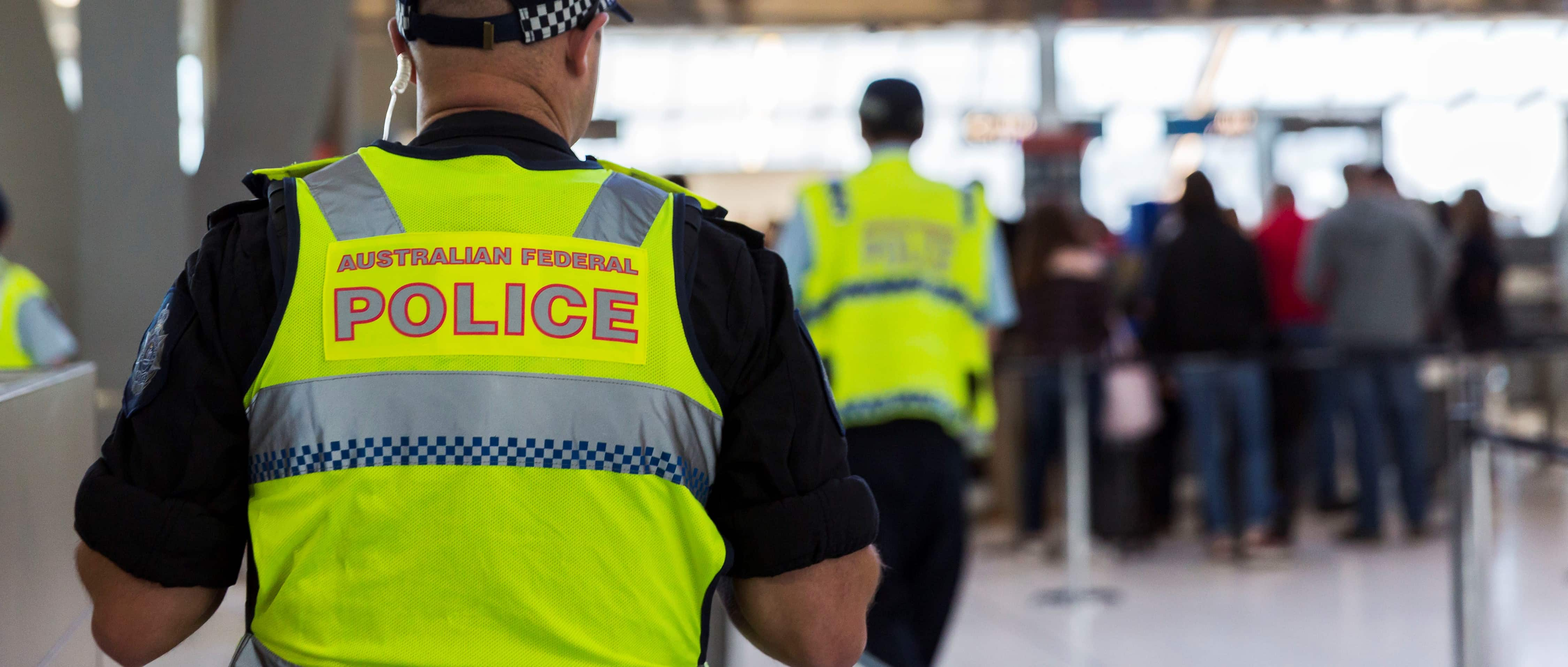 Australian police at Sydney Aiport following an aviation terror plot, July 2017 (Photo: Brook Mitchell/Getty Images)