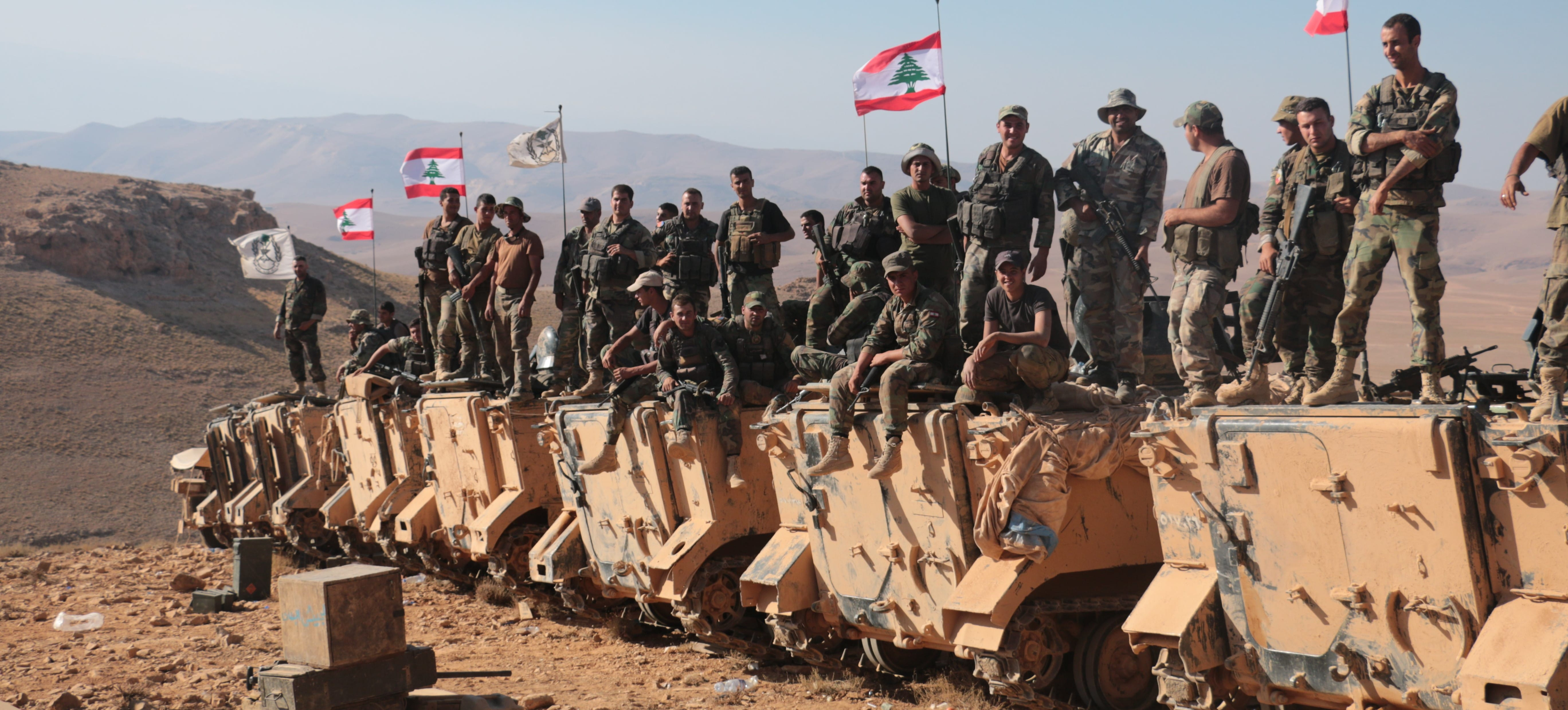 Lebanese soldiers at the Lebanese-Syrian border, August 2017 (Photo: Getty Images/Anadolu Ageny/Ali Akman)