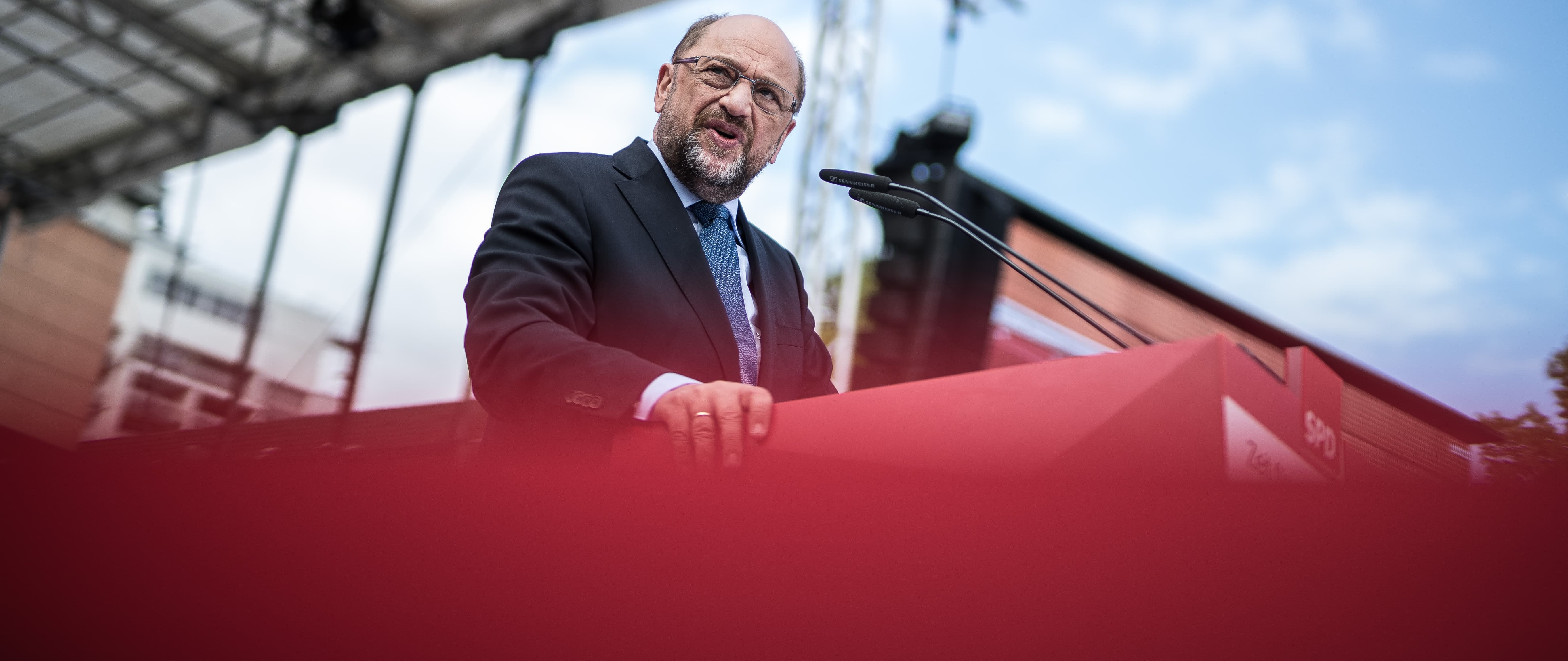 SDP's Martin Schulz, candidate for German Chancellor, September 2017 (Photo: Getty Images/Mata Hitij)