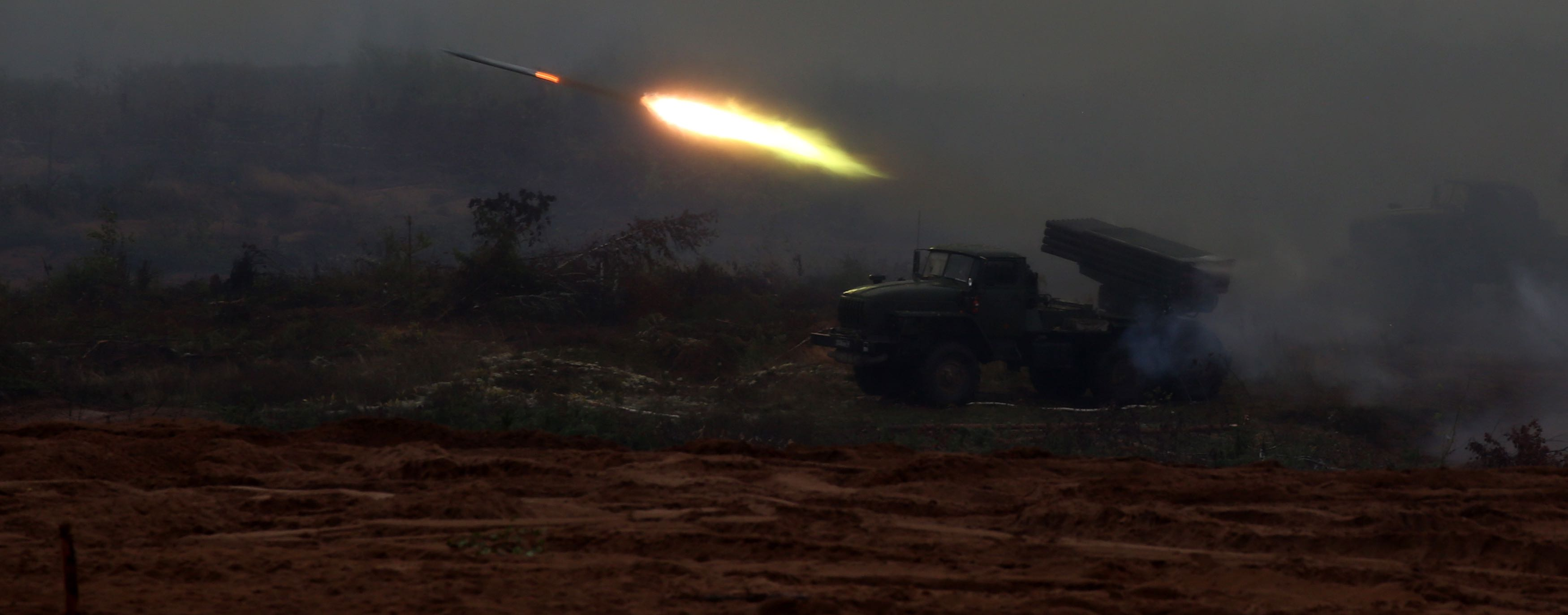 Russian military exercise at Luzhsky range near Saint Petersburg, Russia, in September (Photo: Mikhail Svetlov/Getty)