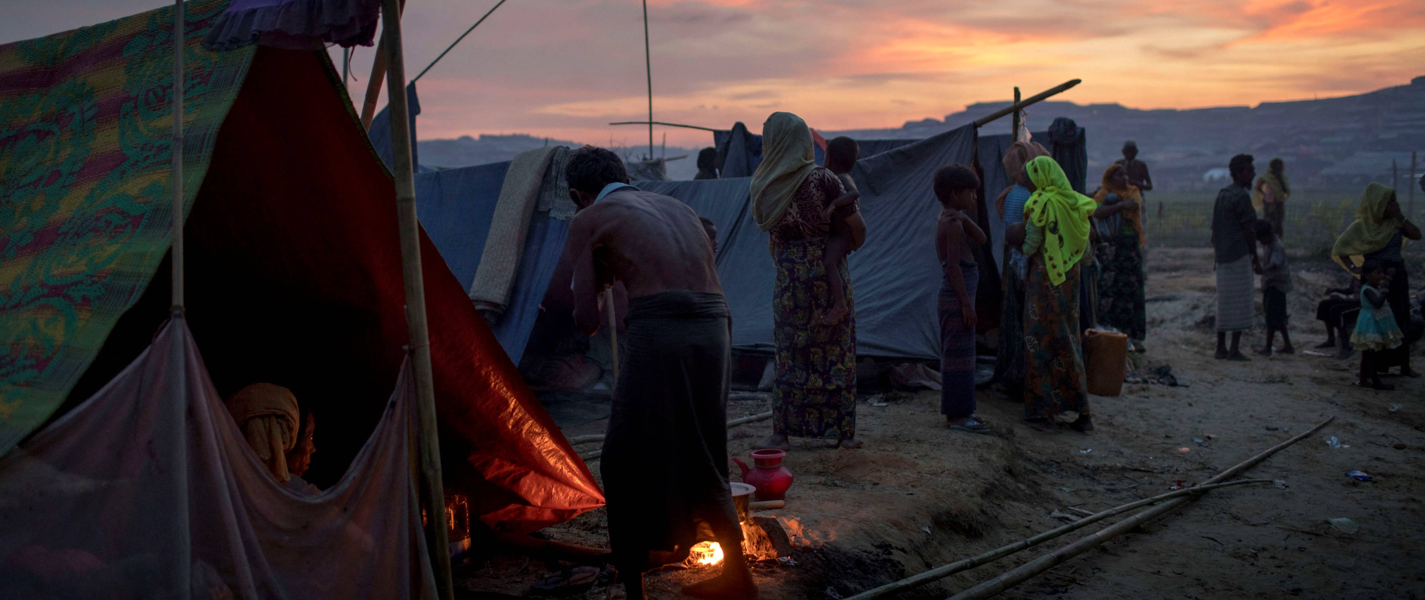 A refugee camp in Bangladesh, September 2017 (Photo: Getty Images/K M Asad)