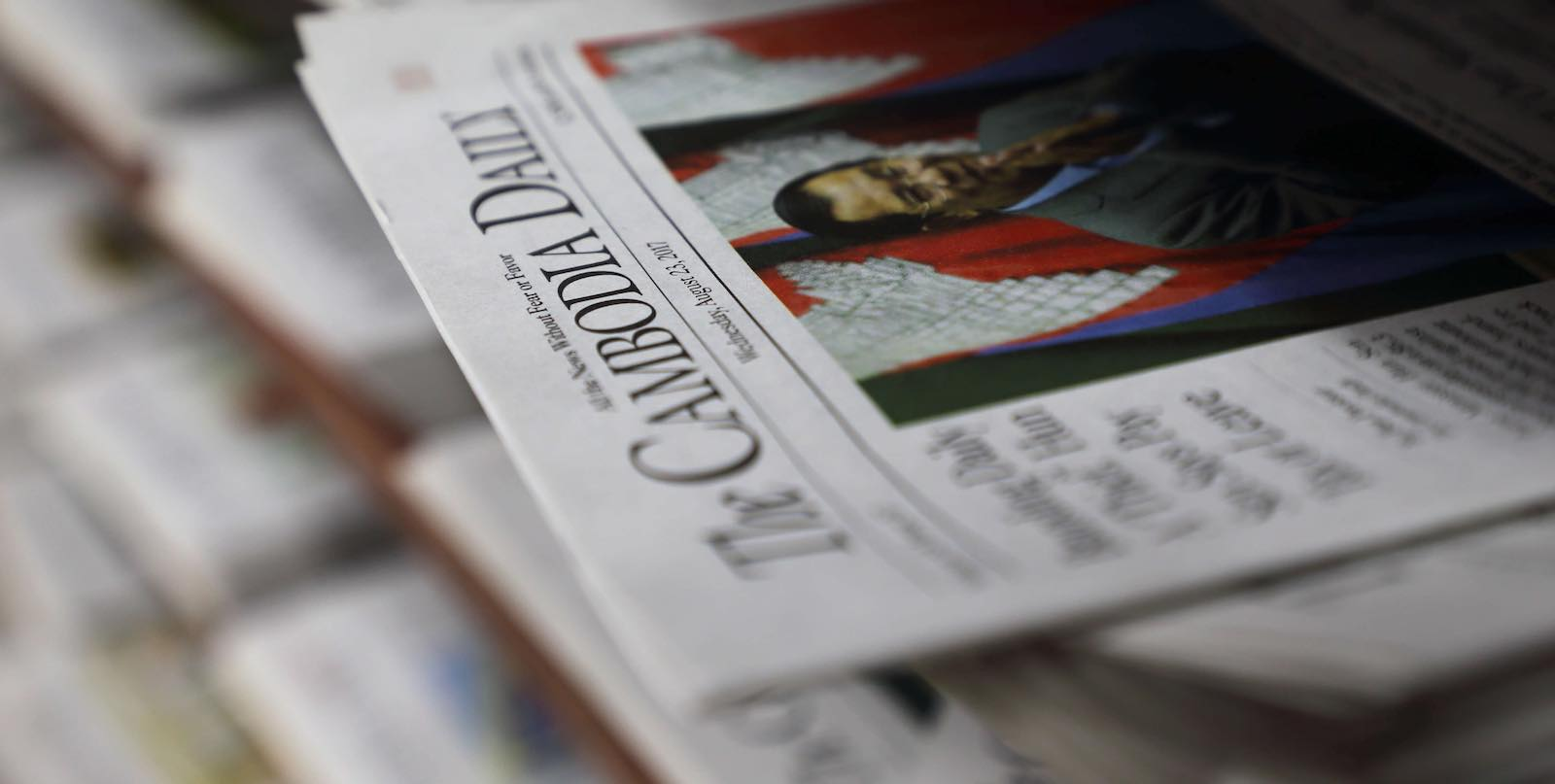 The Cambodia Daily before the masthead was closed in August last year (Photo: Satoshi Takahashi via Getty)
