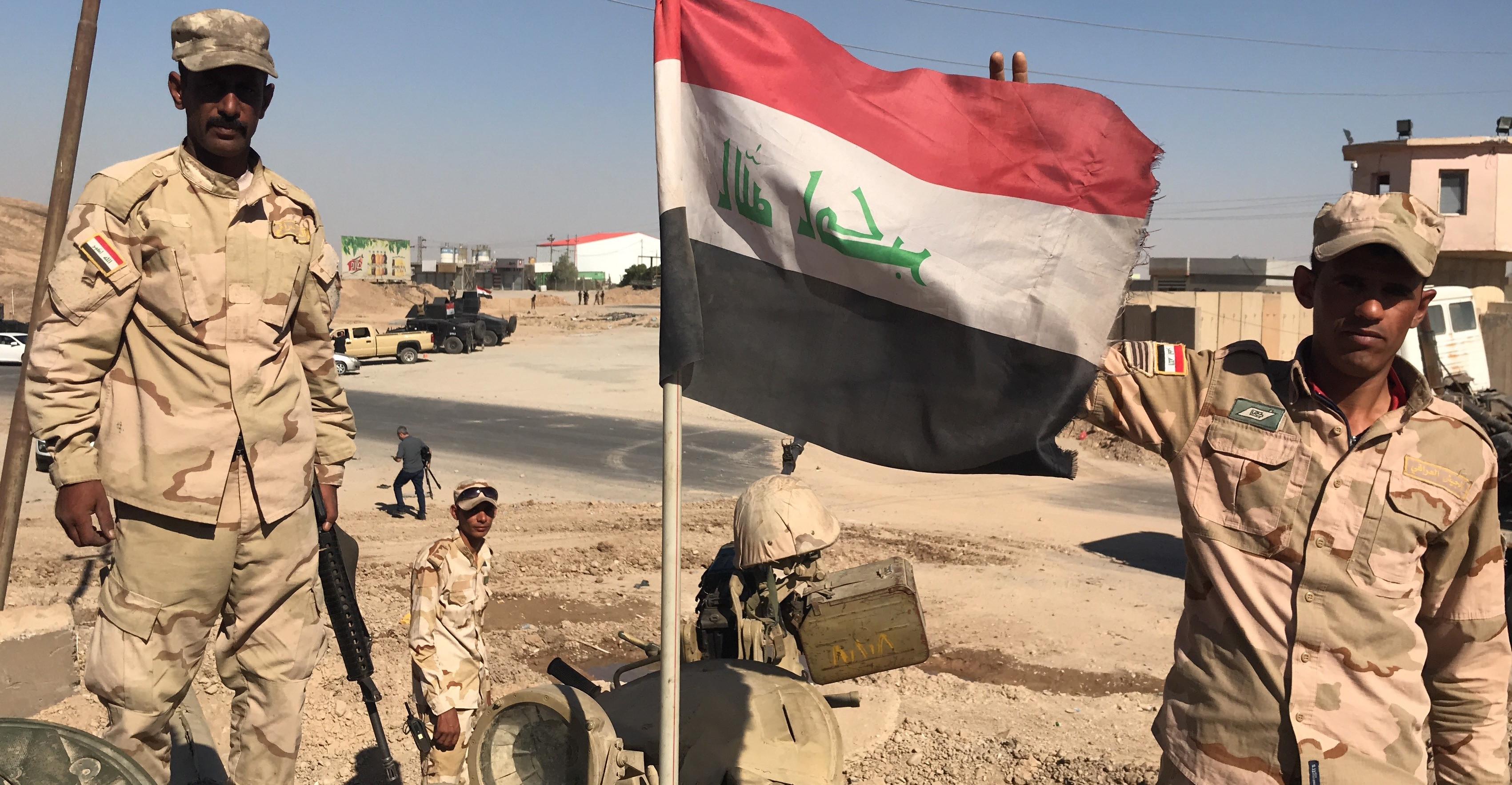 Iraqi soldiers in Kirkuk, October 2017 (Photo: Hamit Arslan/Anadolu Agency/Getty Images)